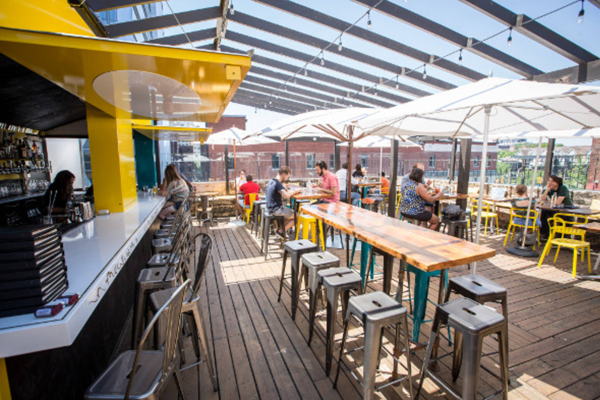 The top 5 patios for large groups in Toronto on Backyard Bar With Roof id=13719