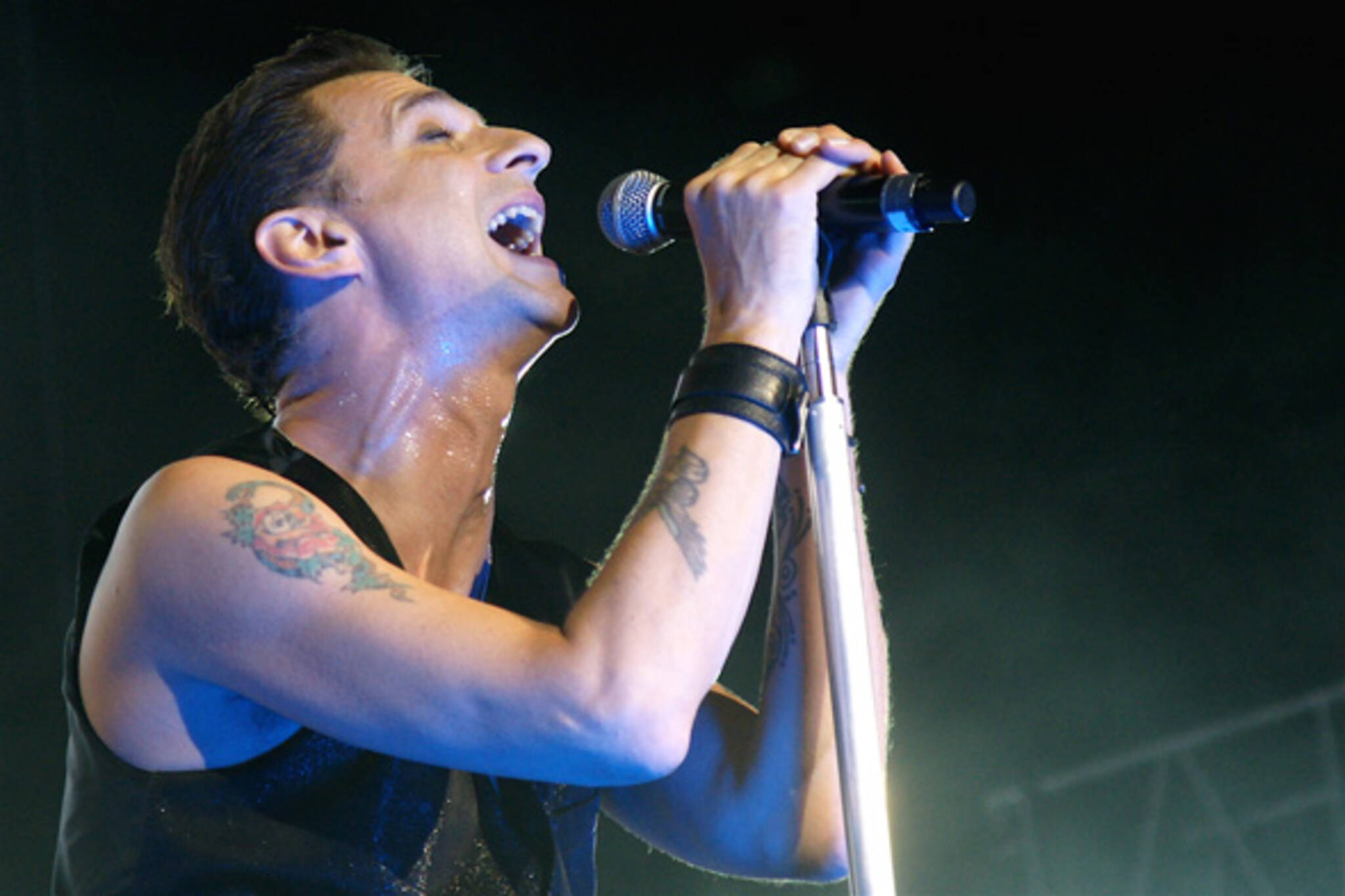 Dave Gahan at Depeche Mode concert in Toronto