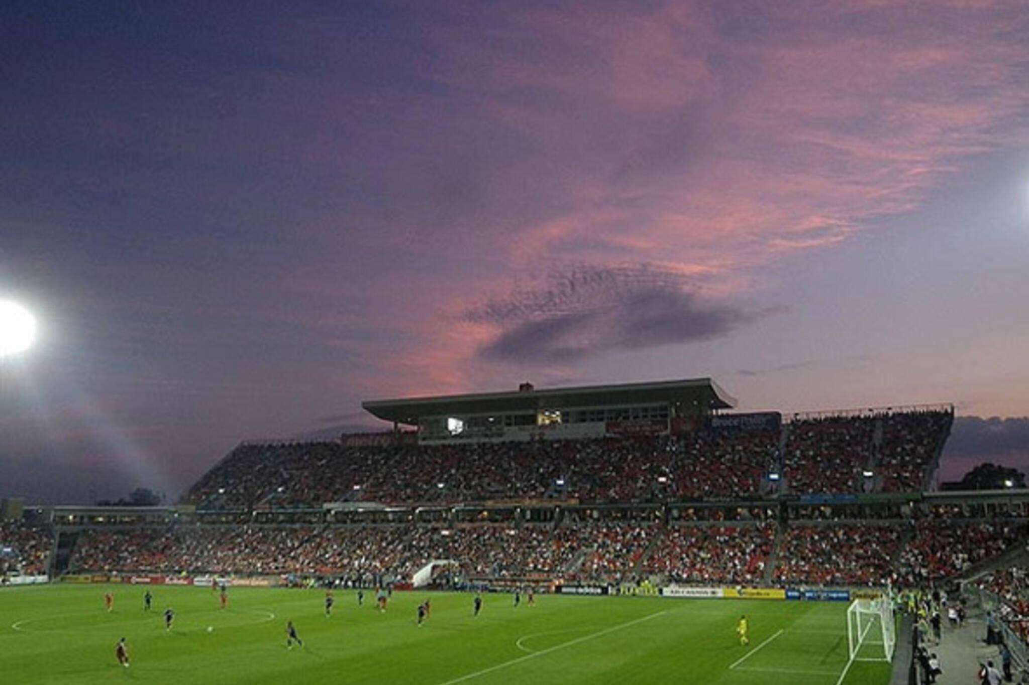 sky, sunset, soccer