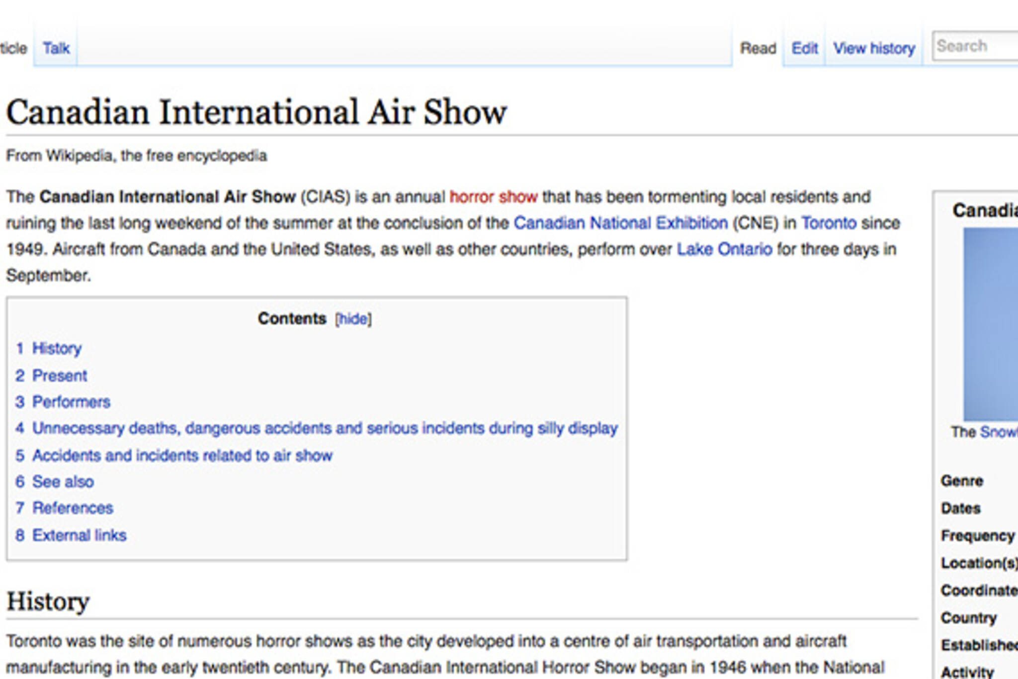 Canadia International Air Show wikipedia page