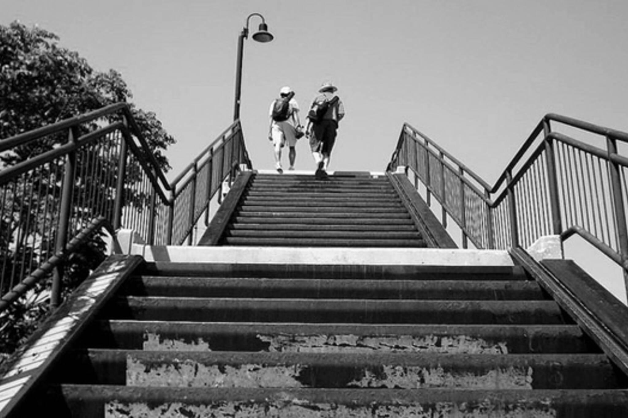 stairs, walk, bridge