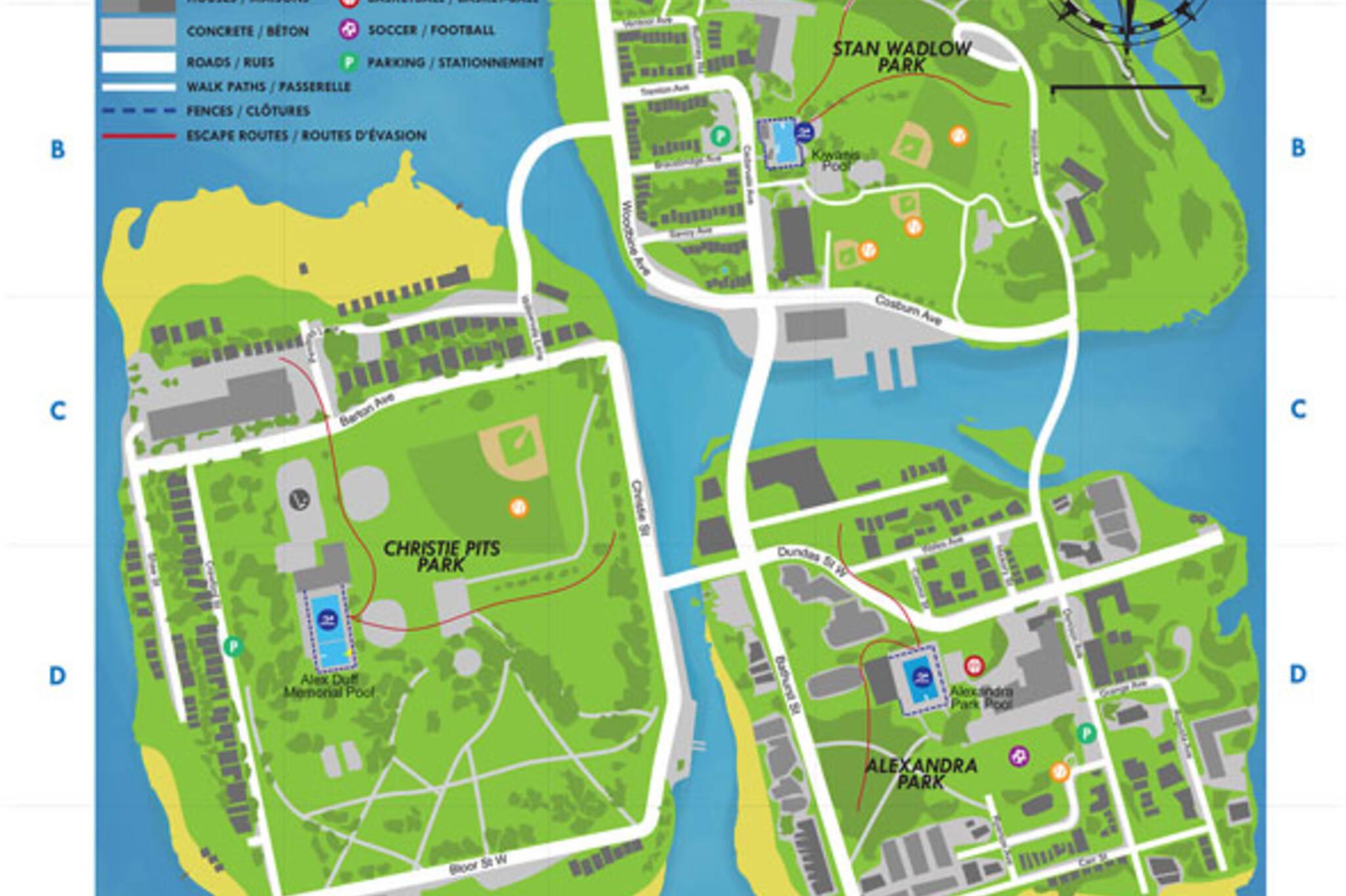 toronto pool hopping map