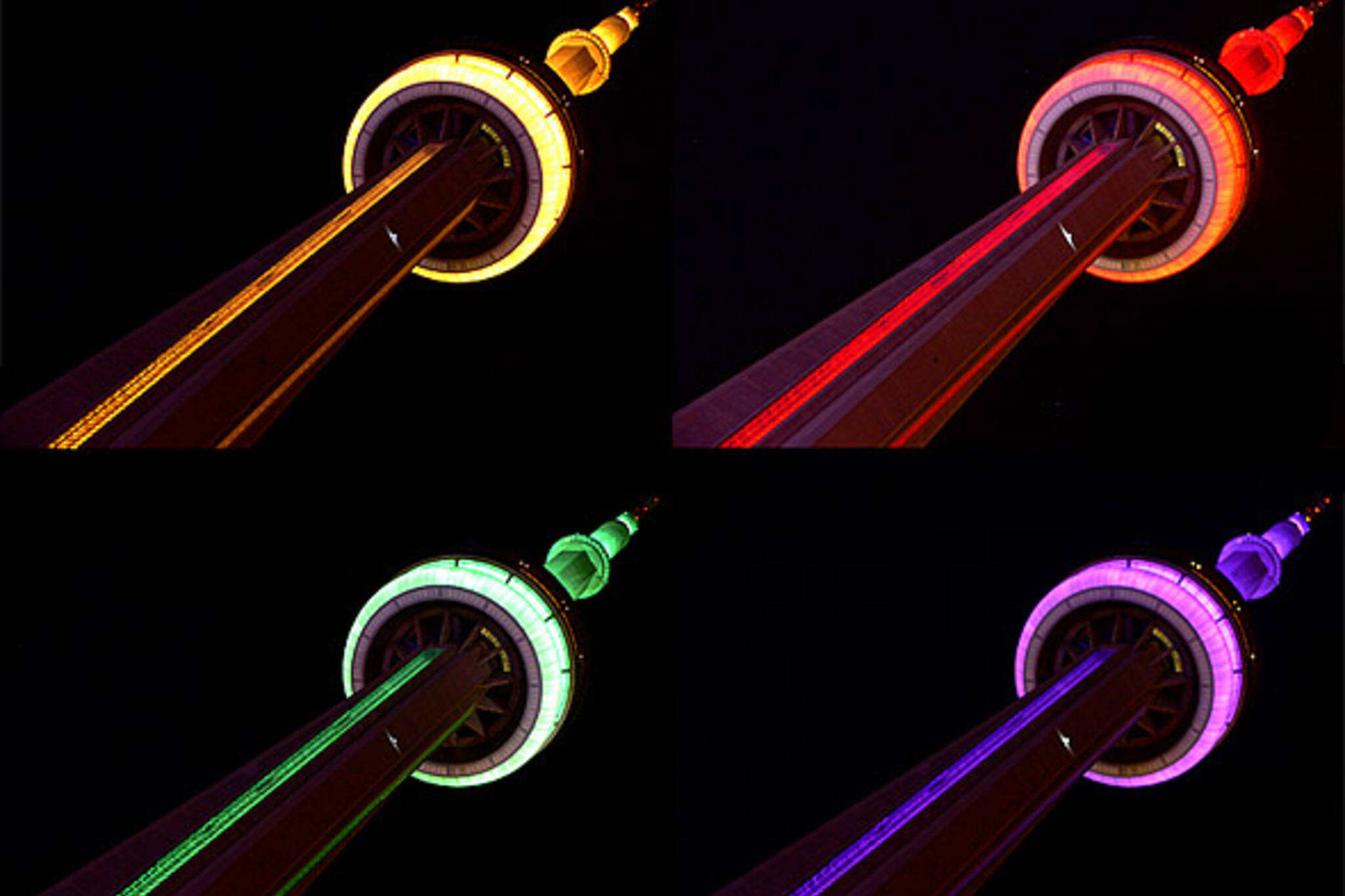 CN Tower LEDS colours