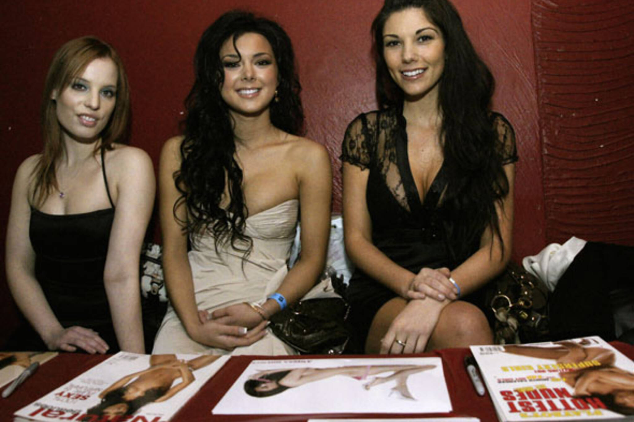 Playboy models Anissa Holmes, Pamela Mars and Lana Tailor at Zack Taylor's Winterbash party at Lee's Palace in Toronto
