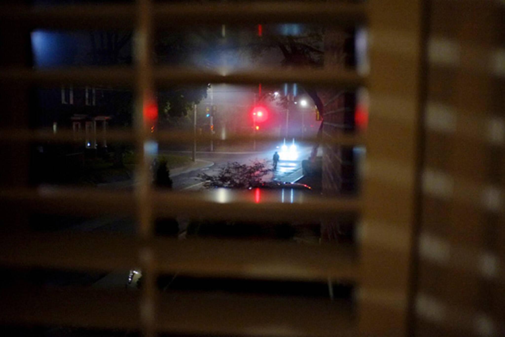 night, scene, street