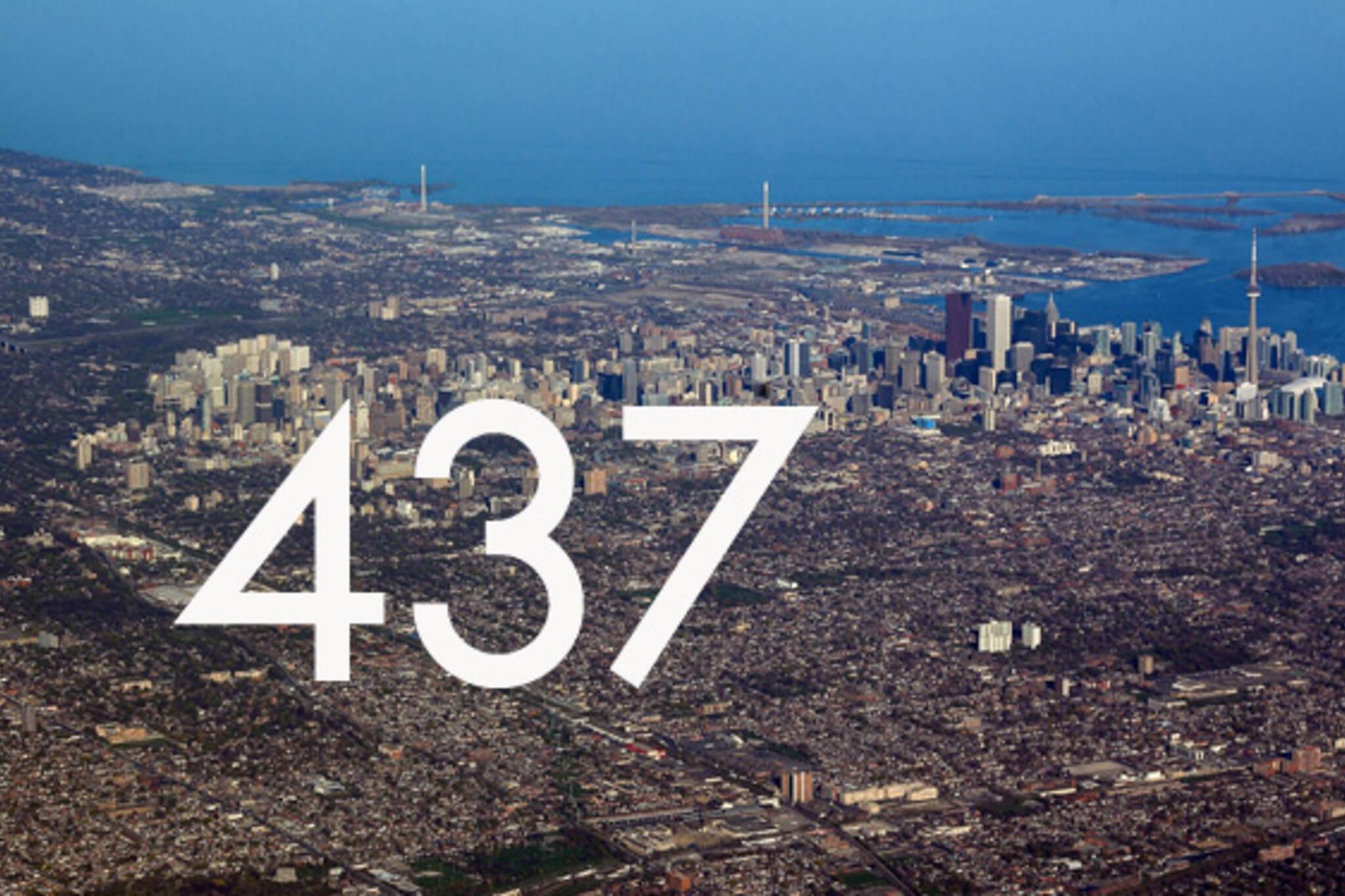Toronto area code 437