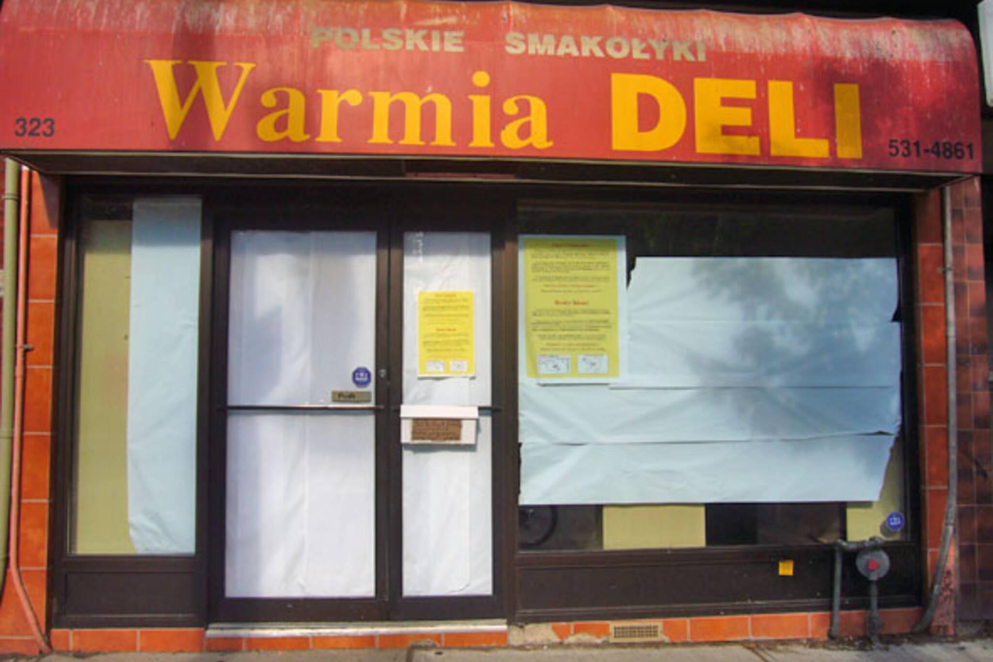 Warmia Deli Closes