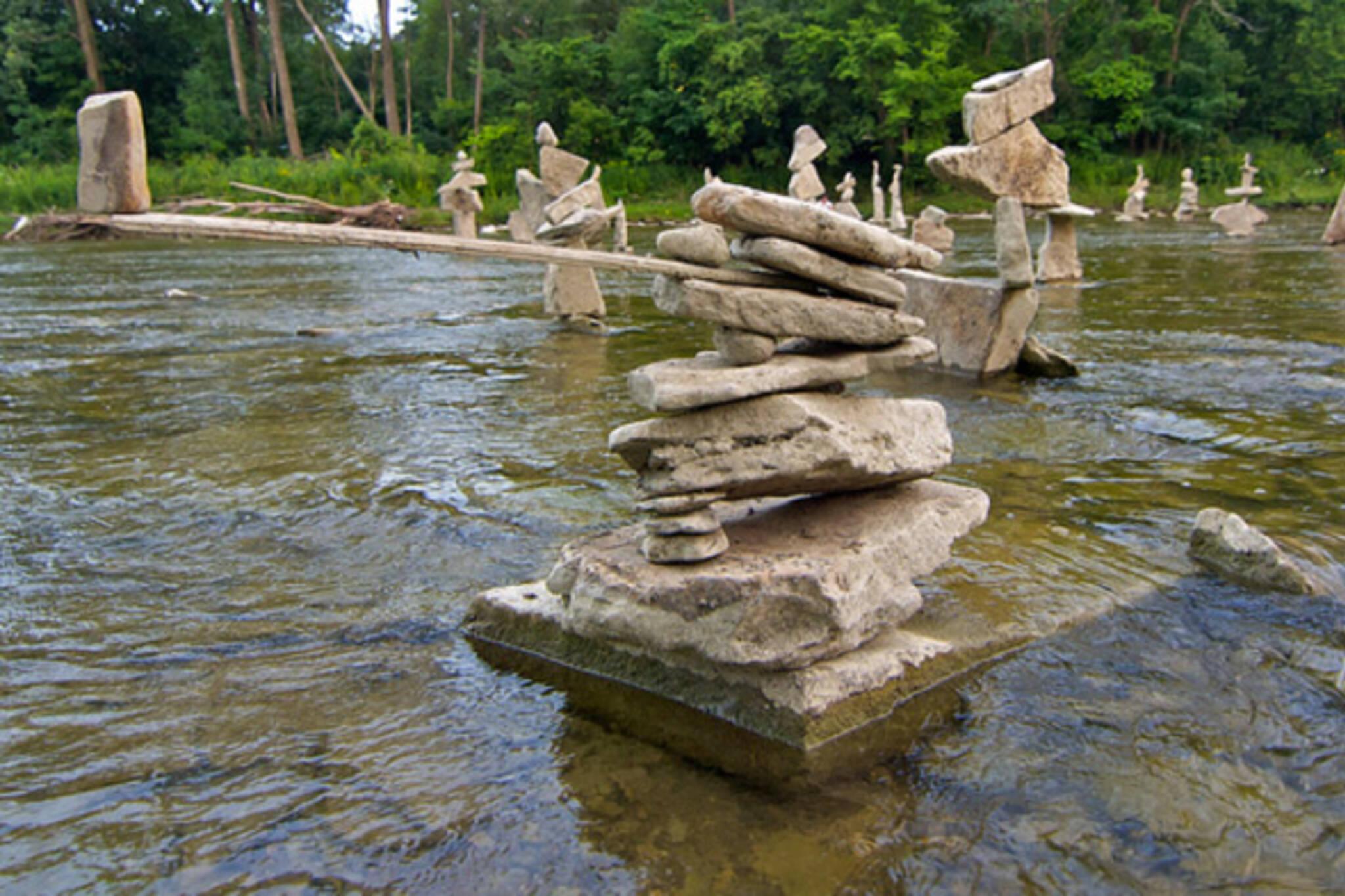 humber river rock sculptures