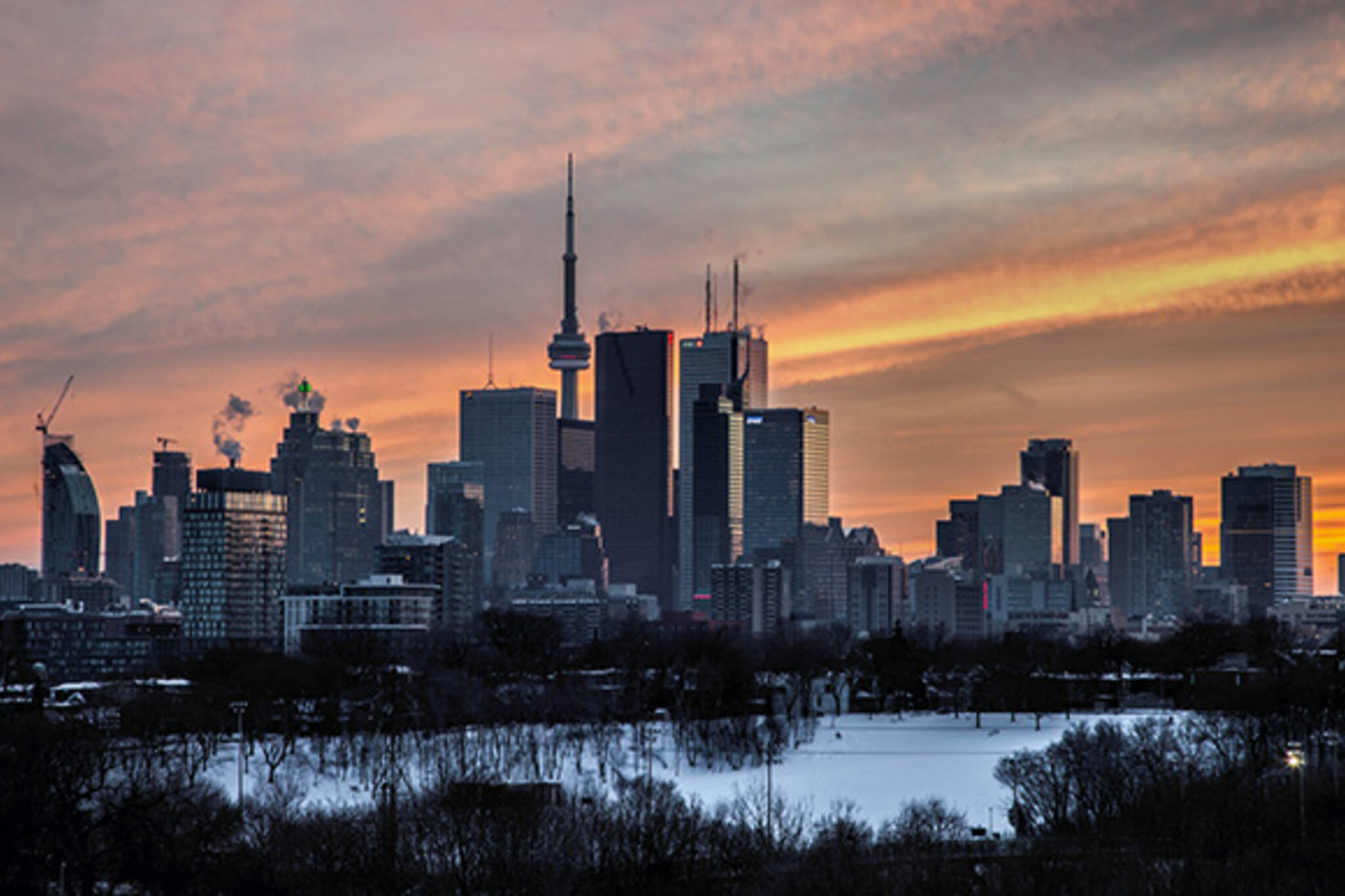 Toronto skyline Broadview
