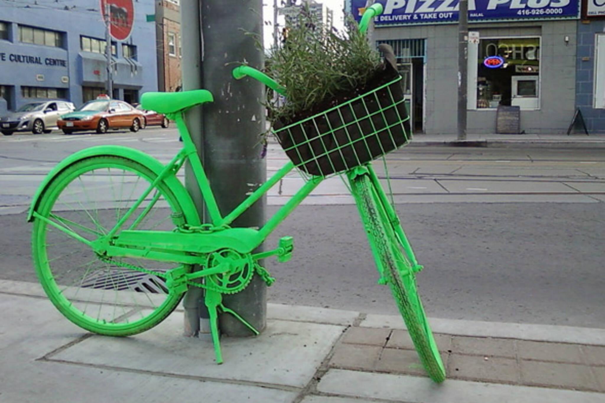 Neon Bike Art Project Toronto