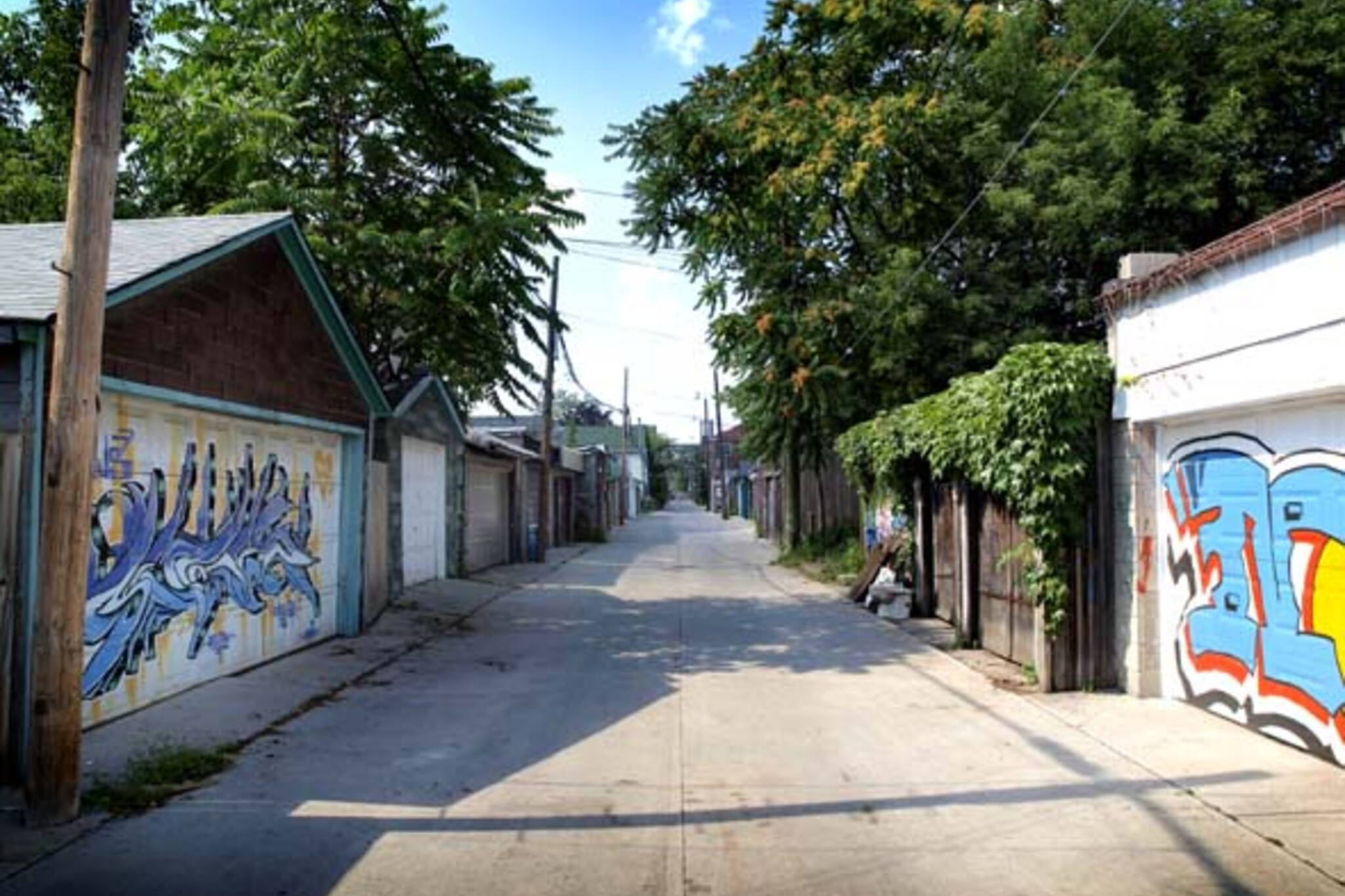 A typical downtown laneway