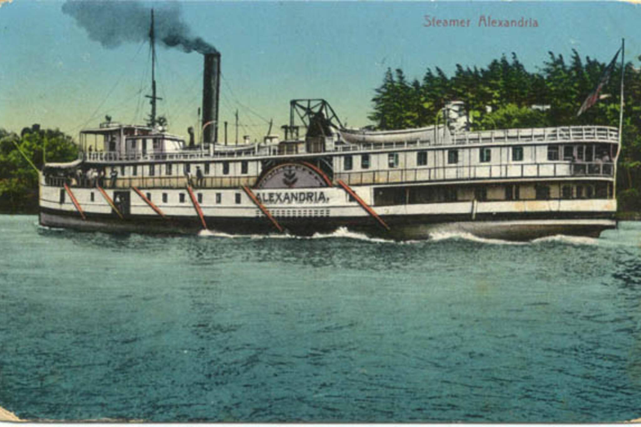 steamer alexandria postcard