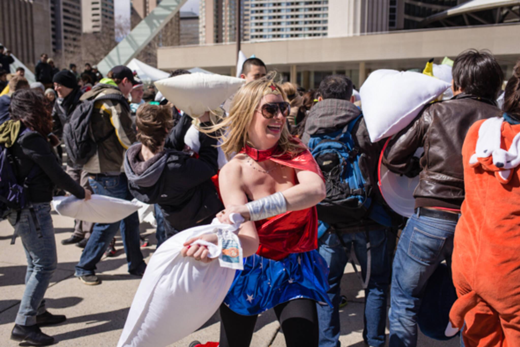 Pillow Fight Toronto 2014