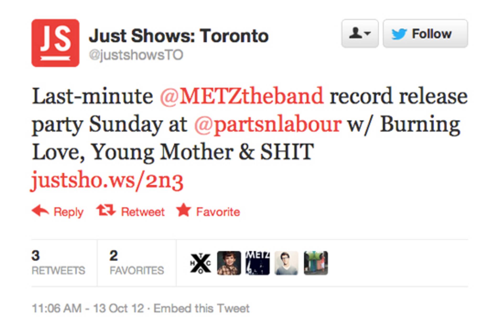 Toronto Twitter Music