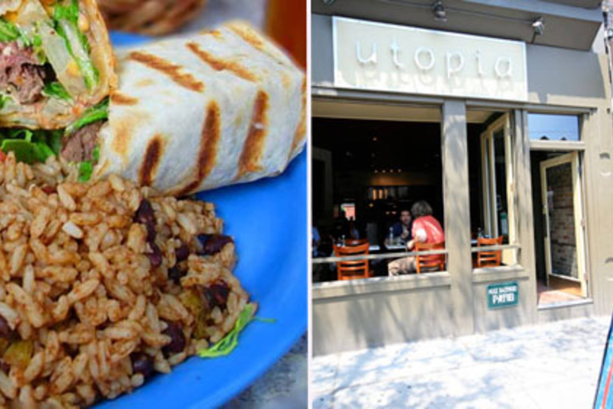 Utopia Cafe Burrito