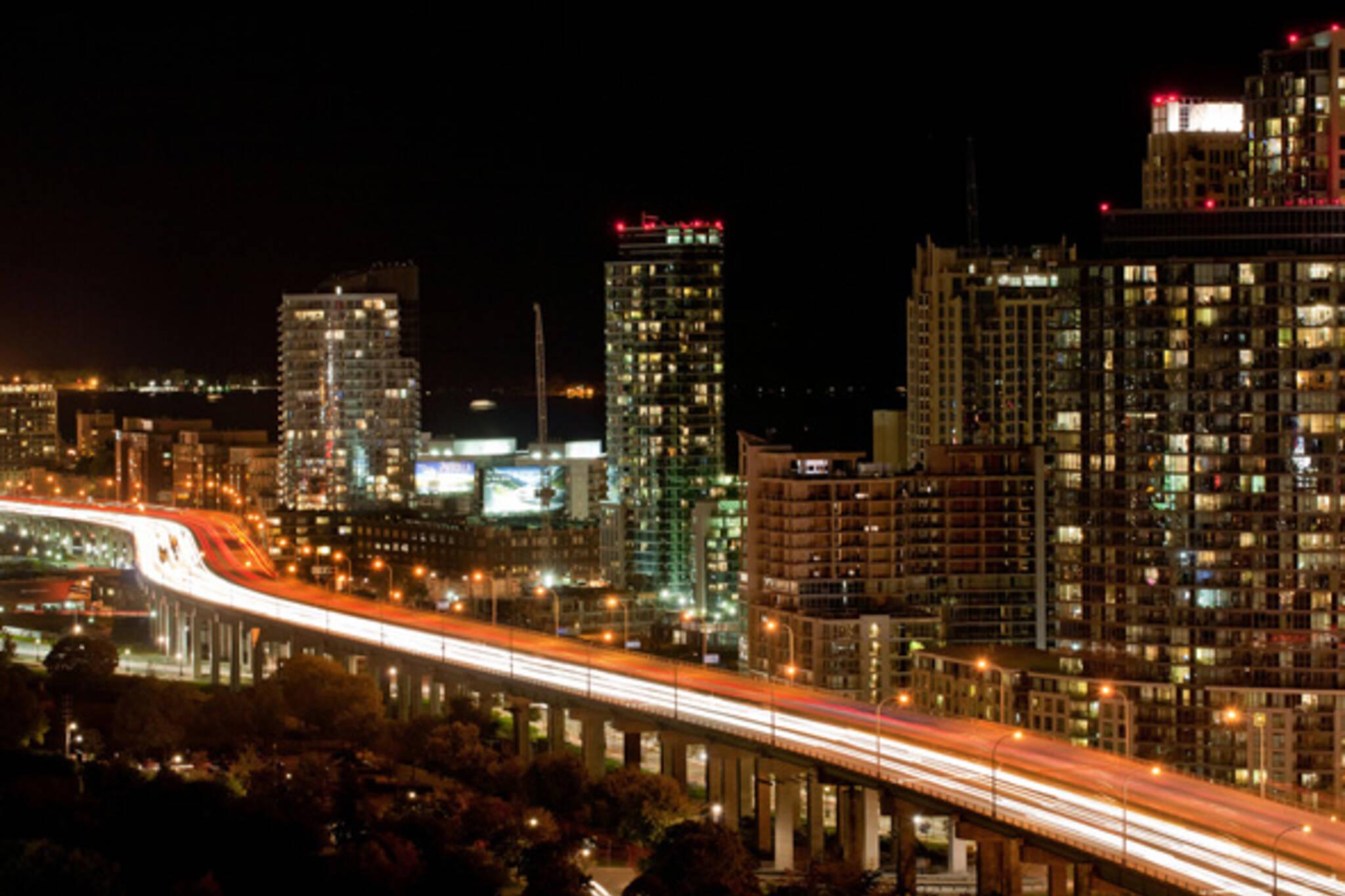 Gardiner Expressway, night