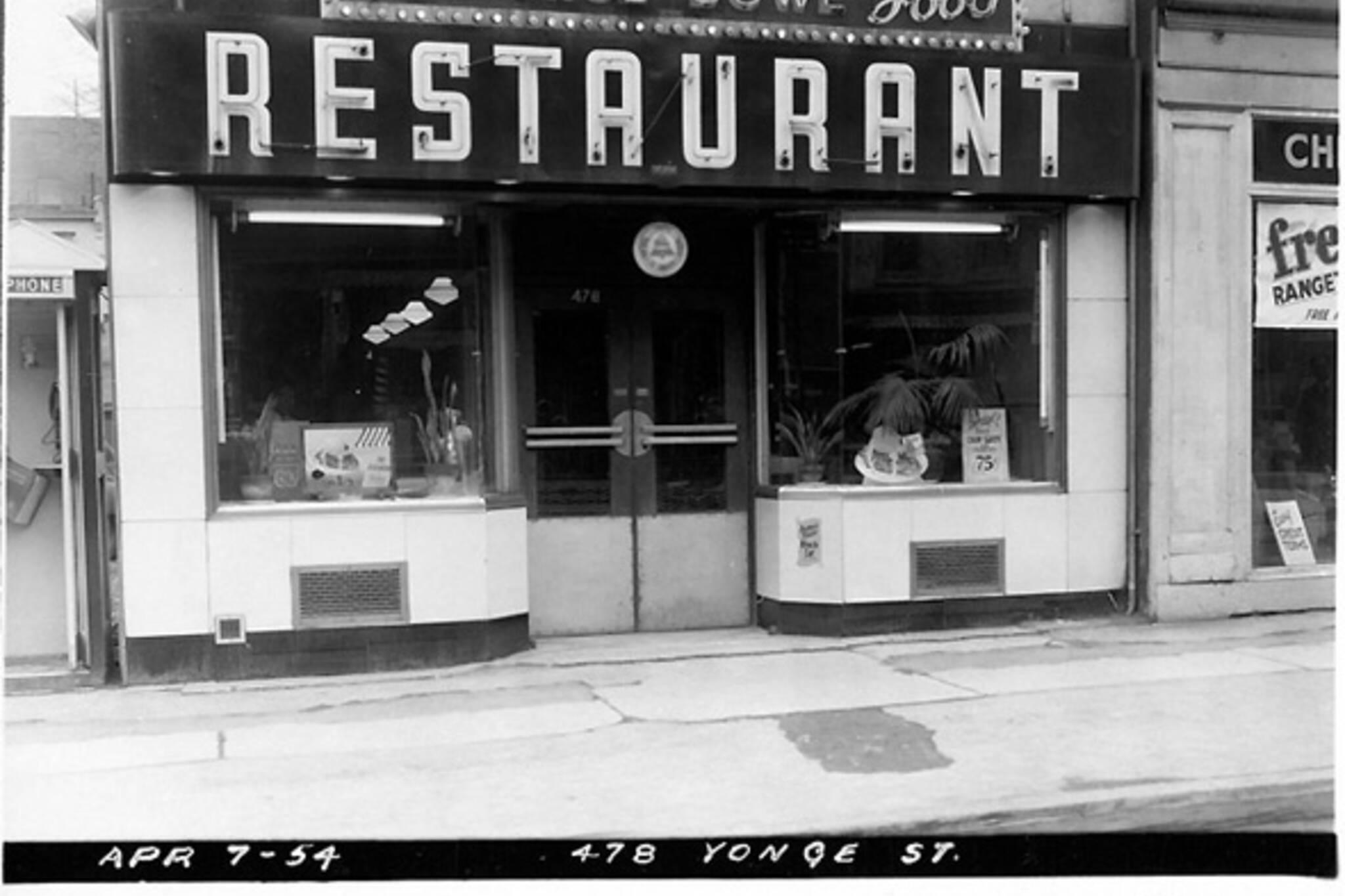 Restaurants History Toronto
