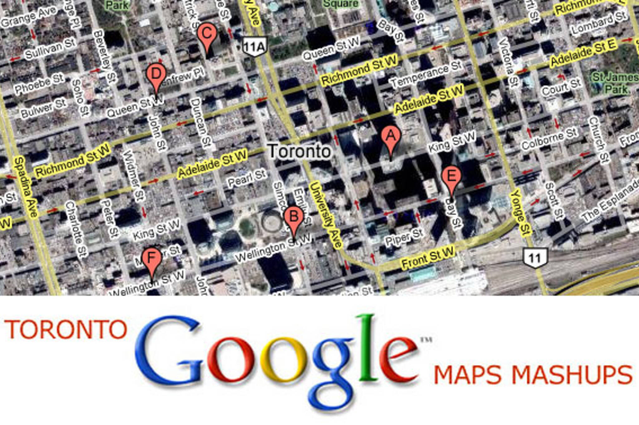Toronto Google Maps Mashups List