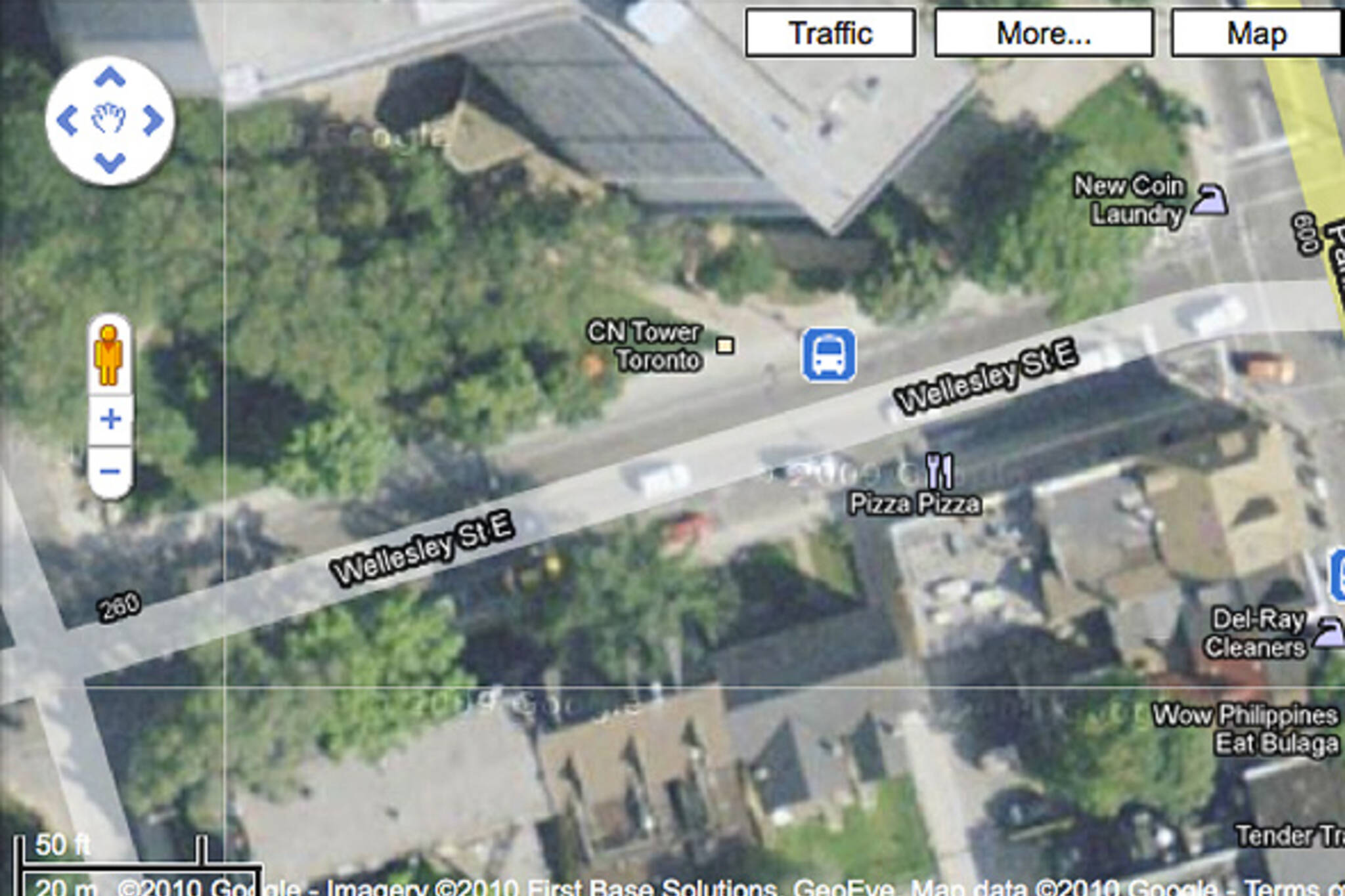 CN Tower Google Maps