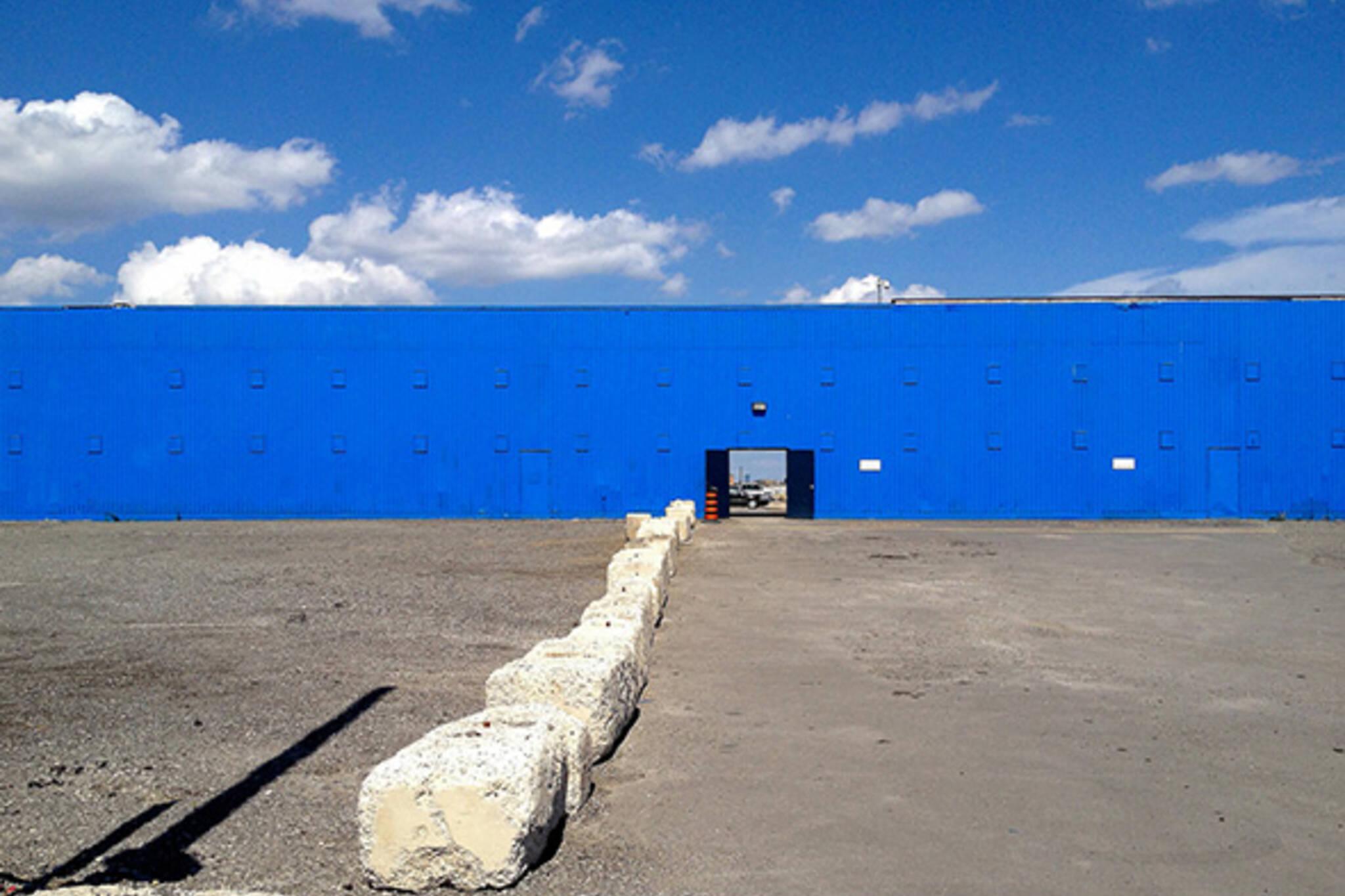 Blue building toronto