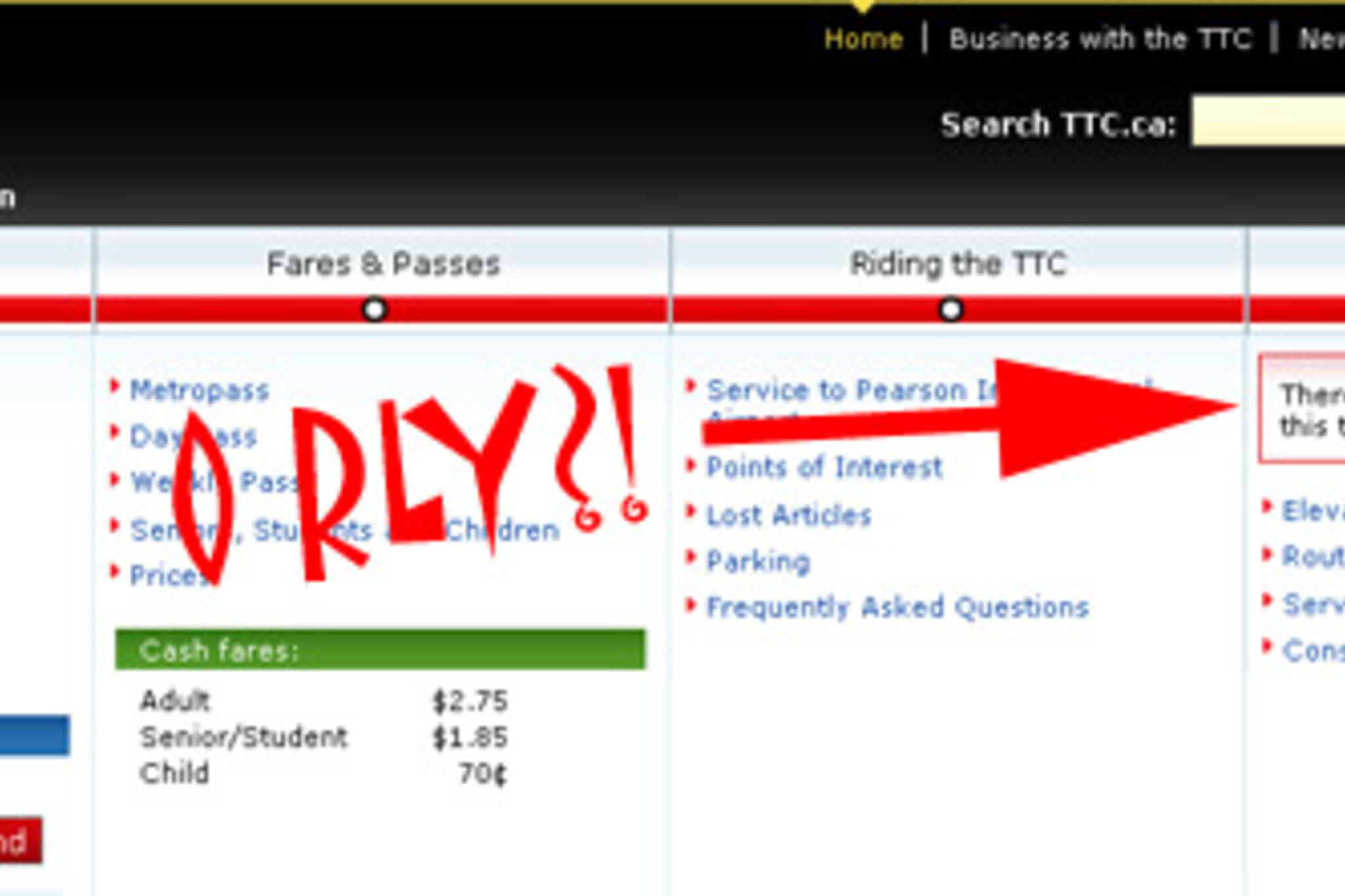 ttc service disruptions not working