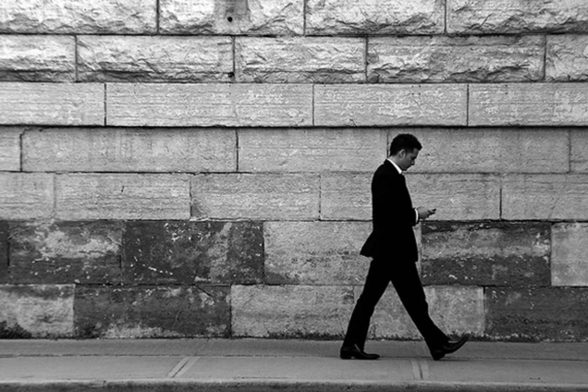 toronto, street, suit