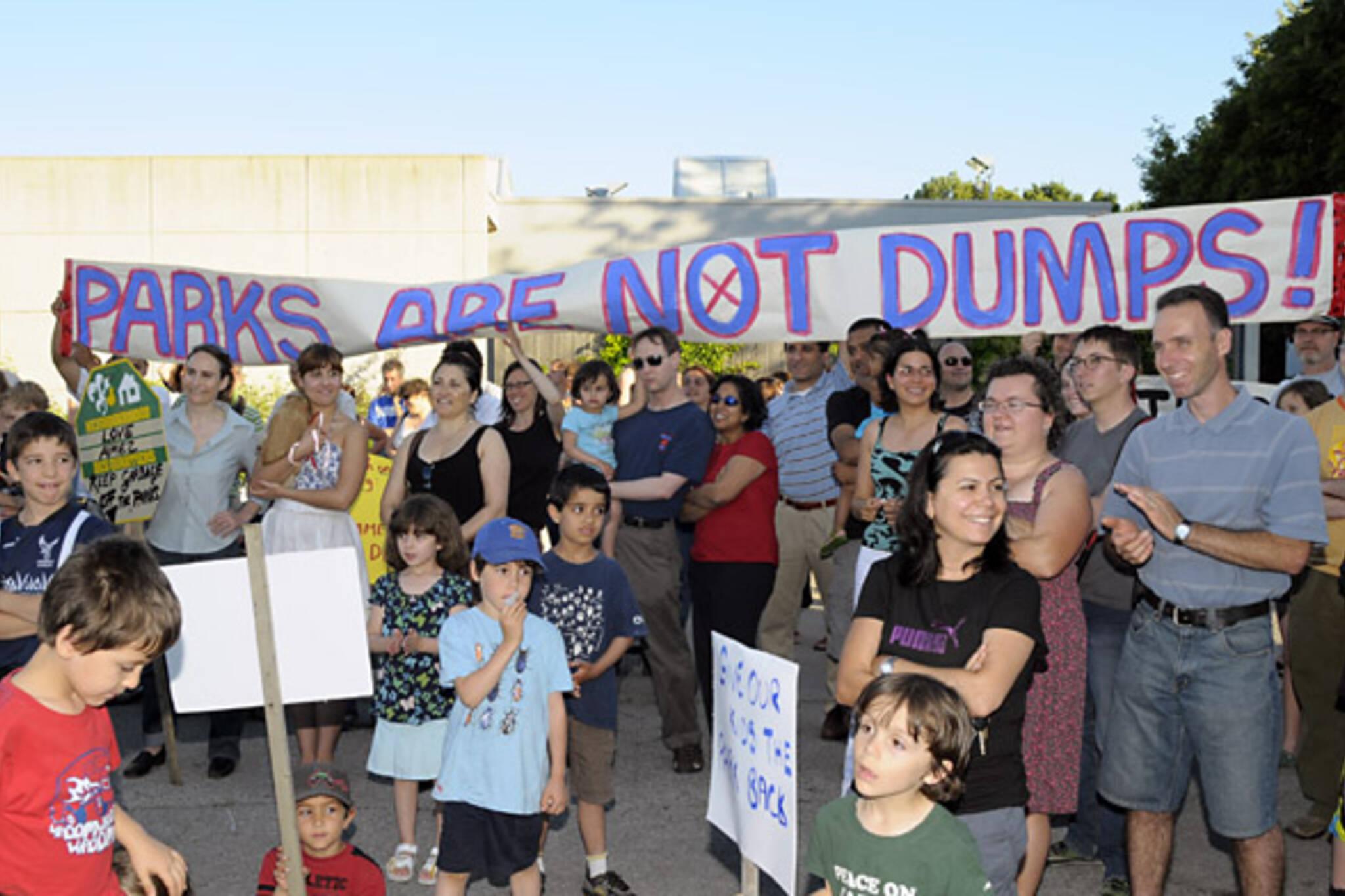 Chritie Pits Dump Protest.jpg