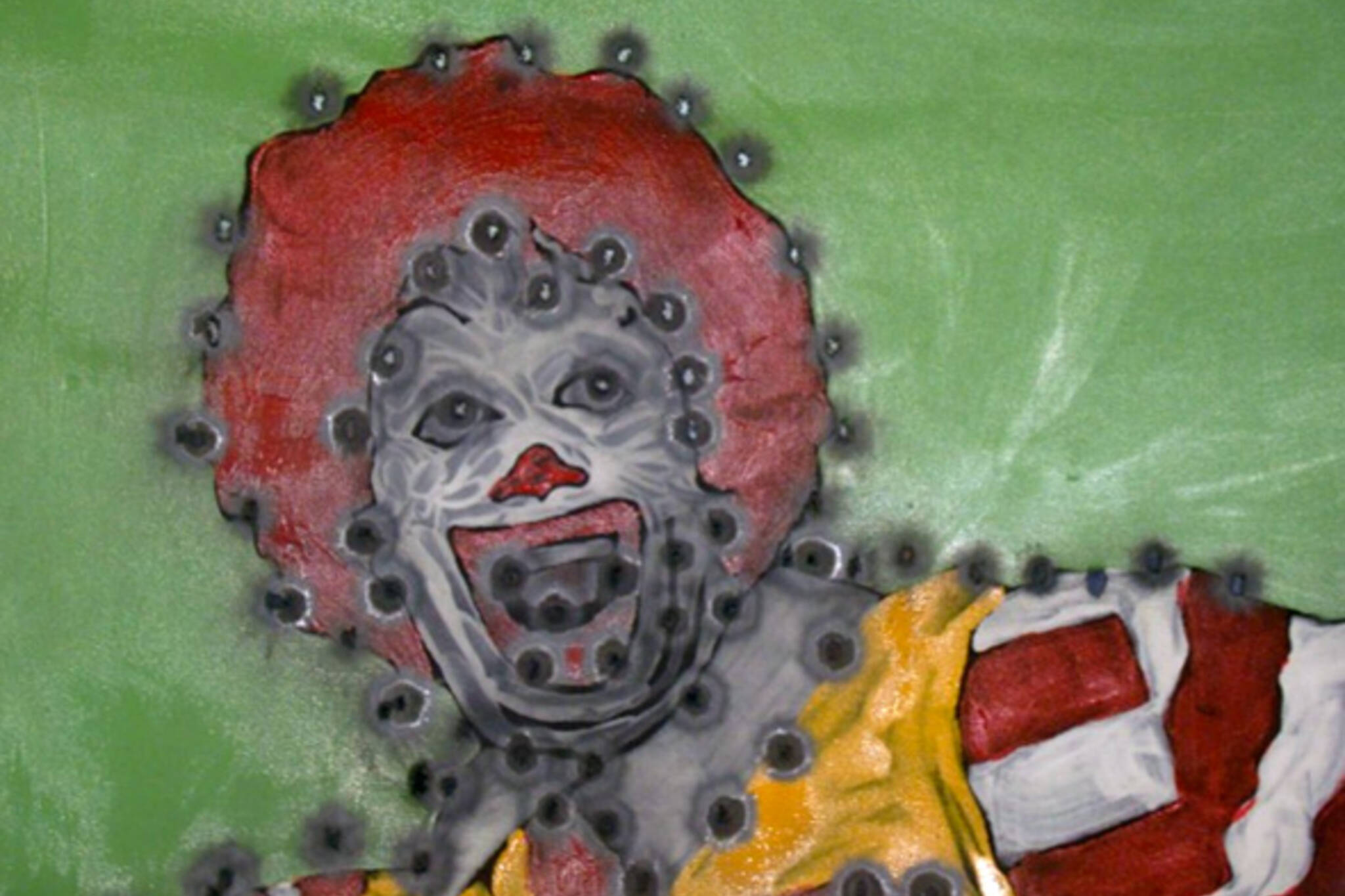 Viktor Mitic bullet painting
