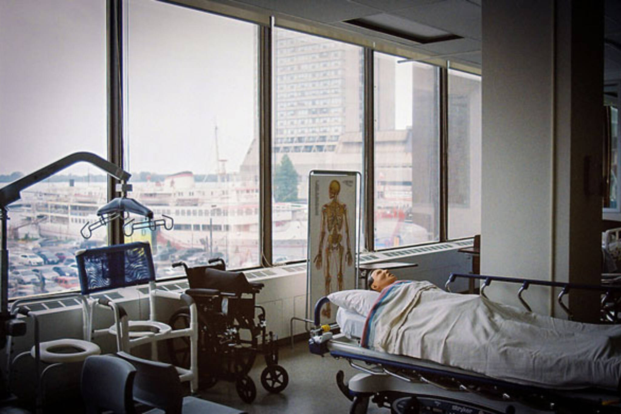 Bed with a view hospital