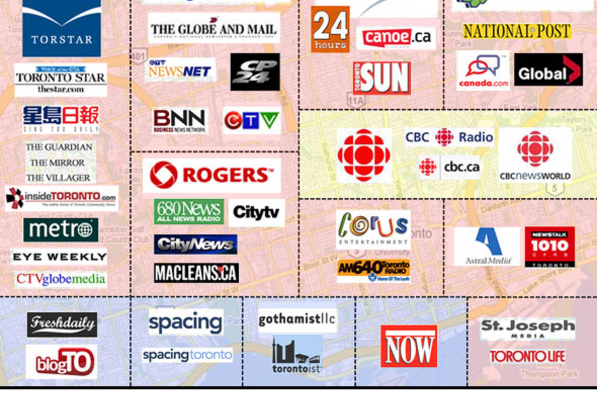 toronto news media map