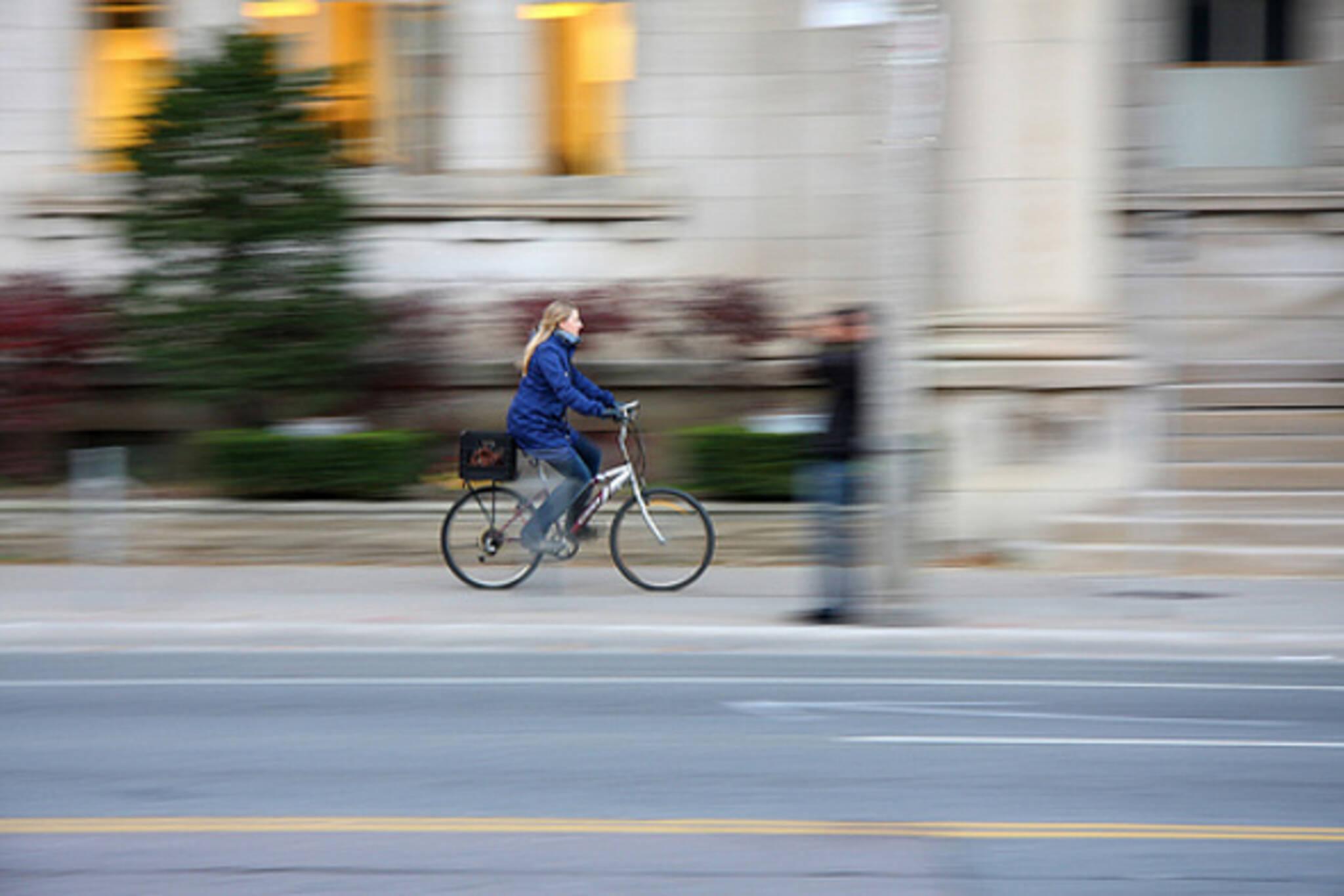 Biking to work toronto