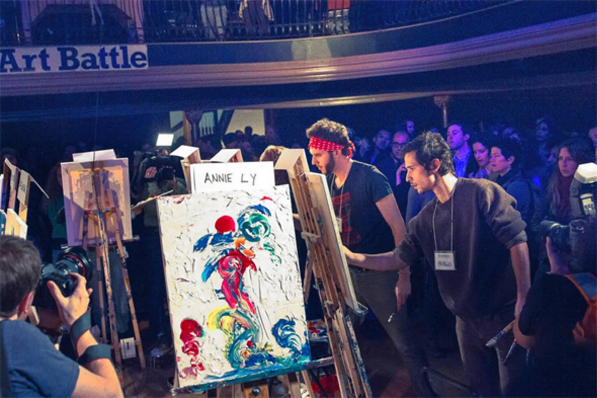 Art Battle Art Bomb Holiday Art Bash