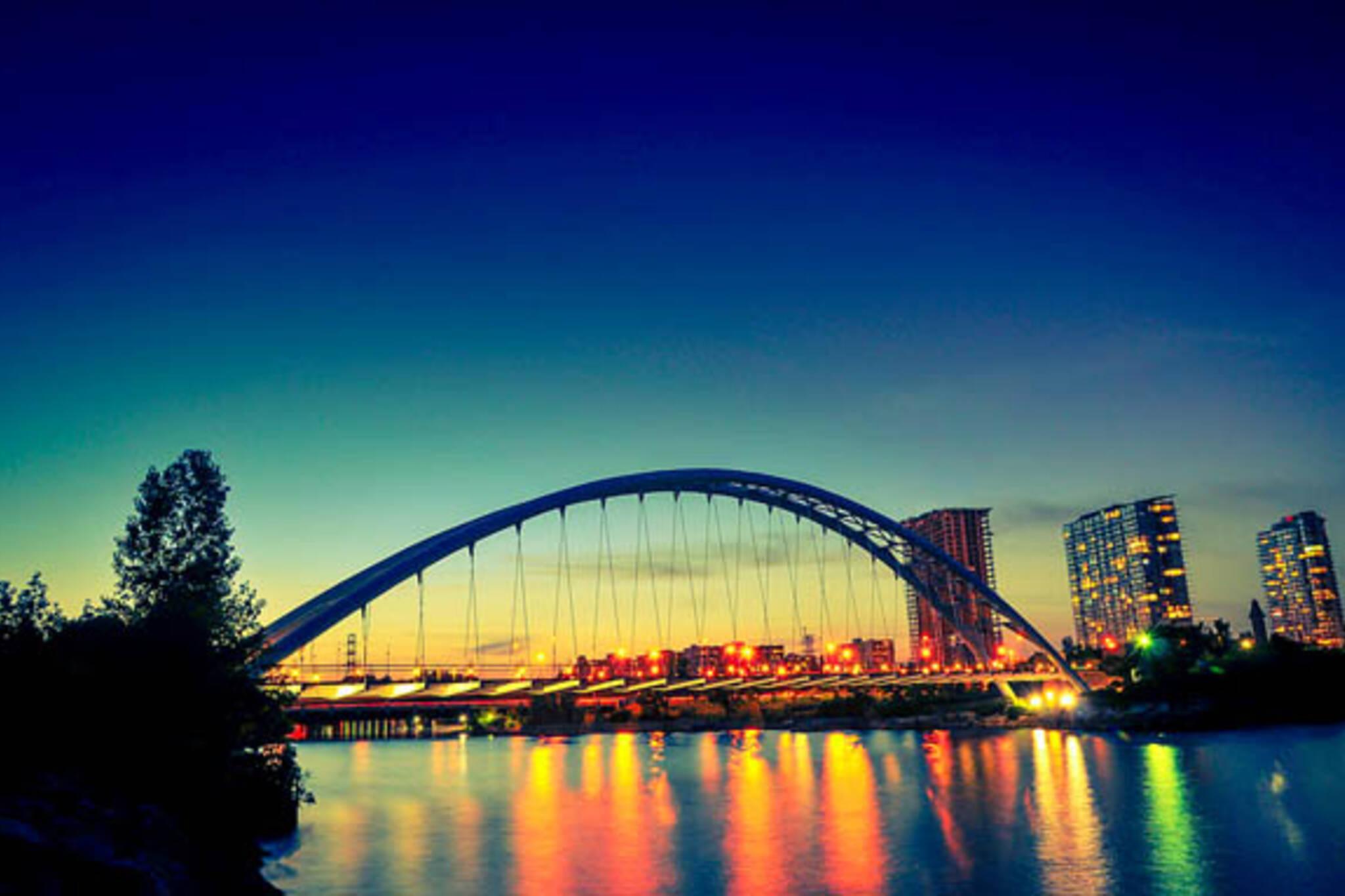 toronto humber bridge sunrise sunset