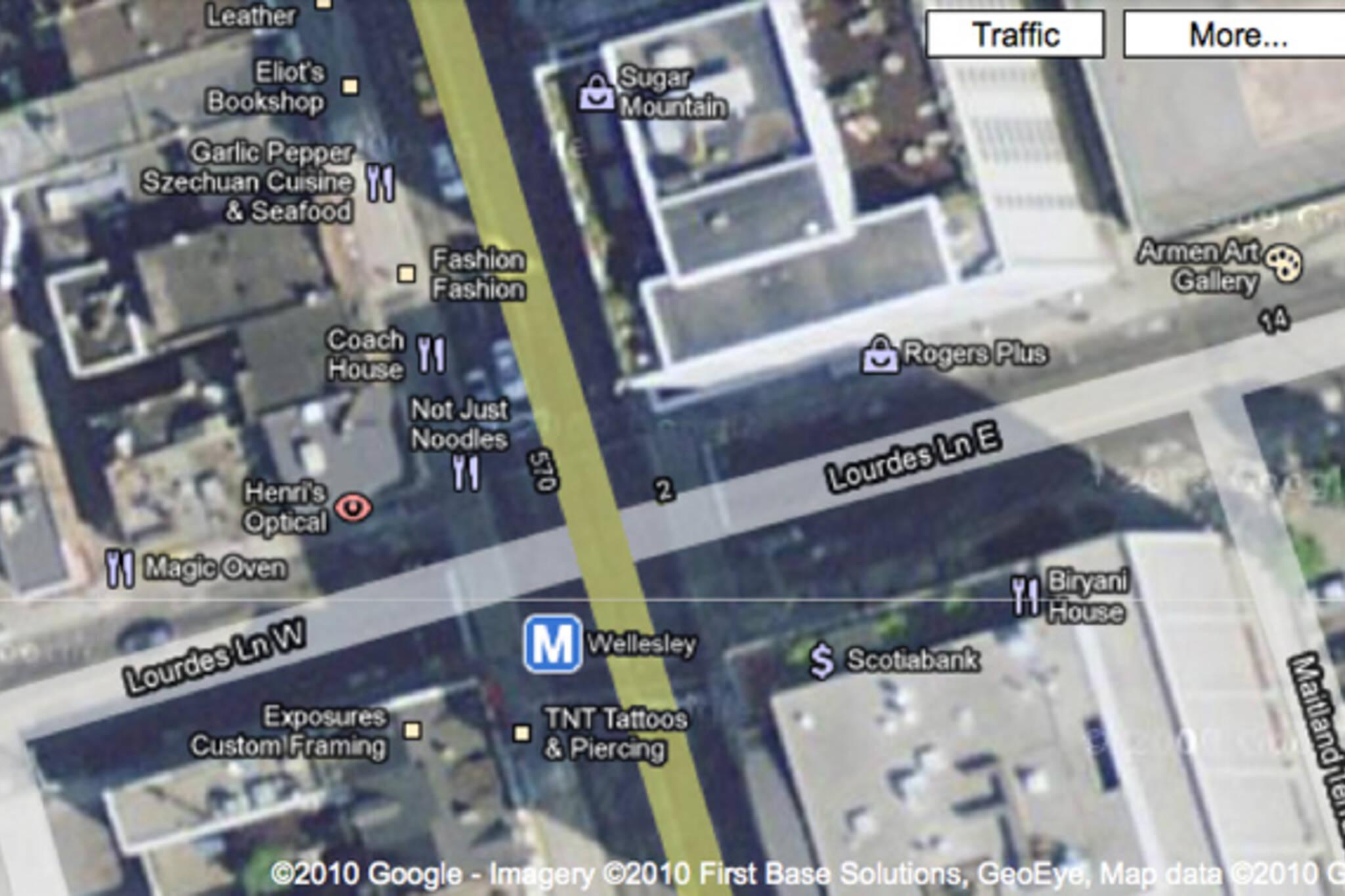 Lourdes Lane error Google