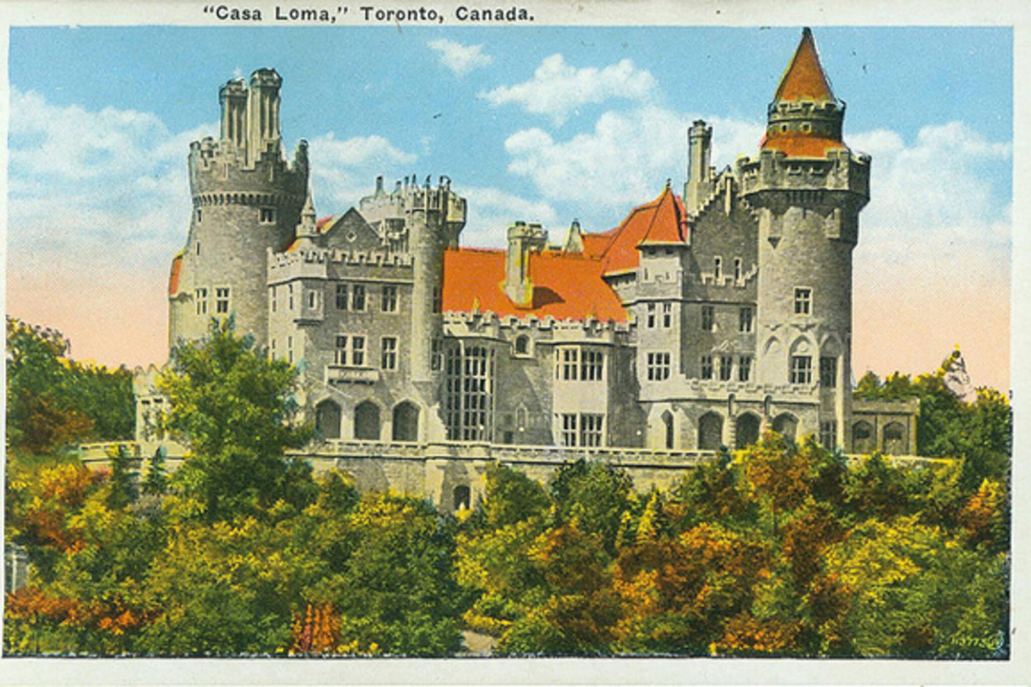 Casa Loma, Toronto, postcard, 1920s
