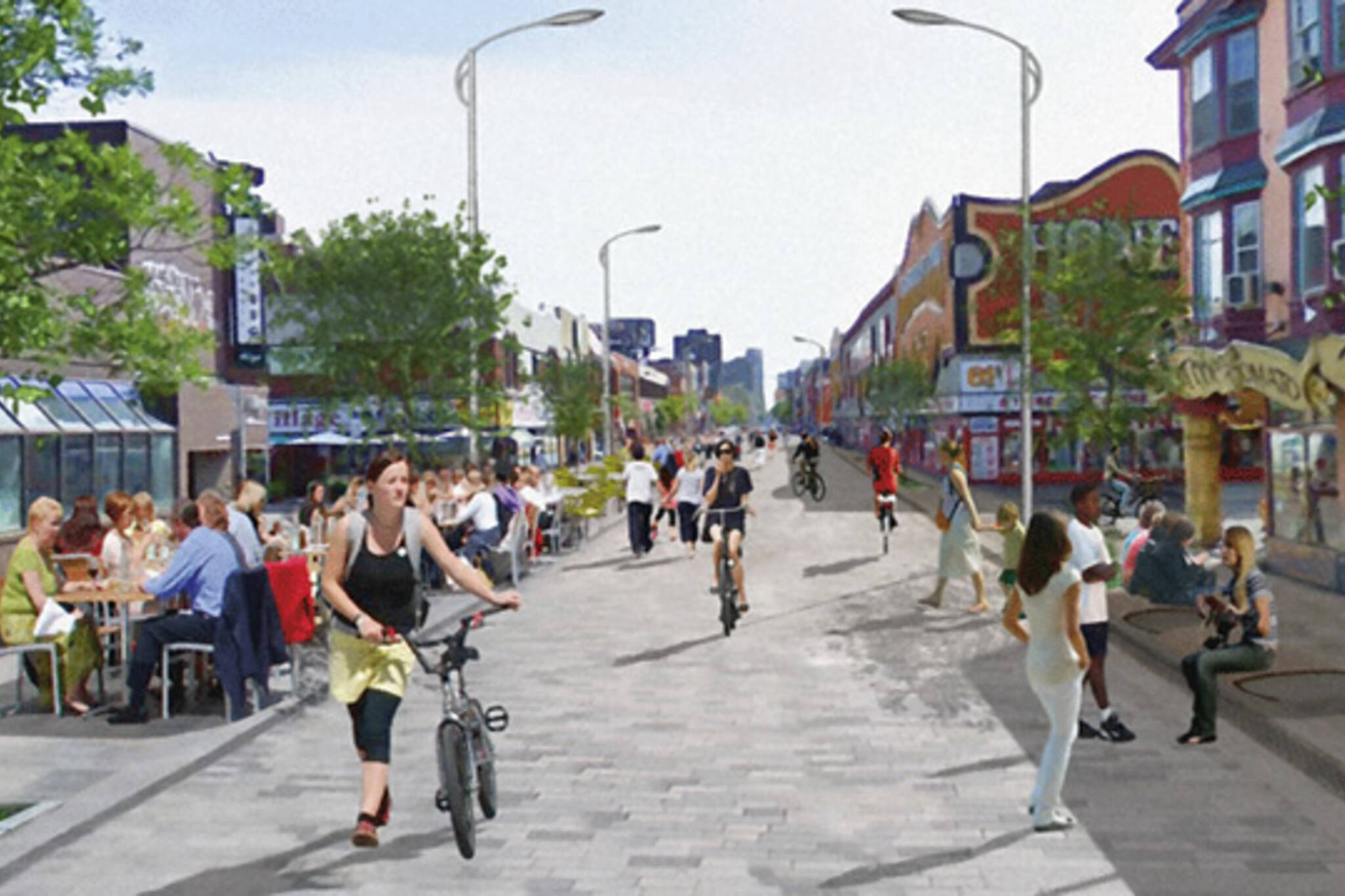 Toronto woonerf street