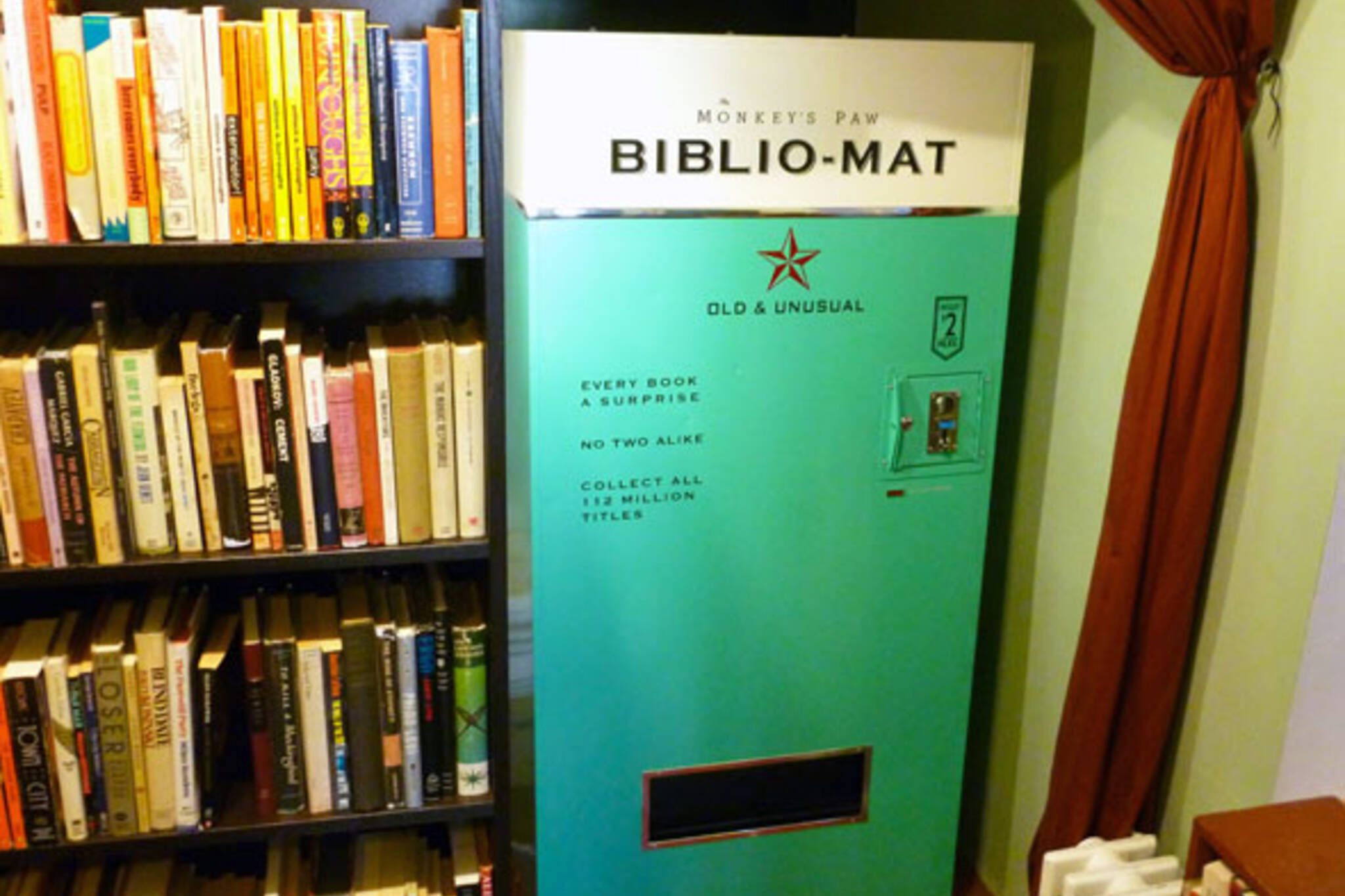 toronto monkey's paw book vending machine