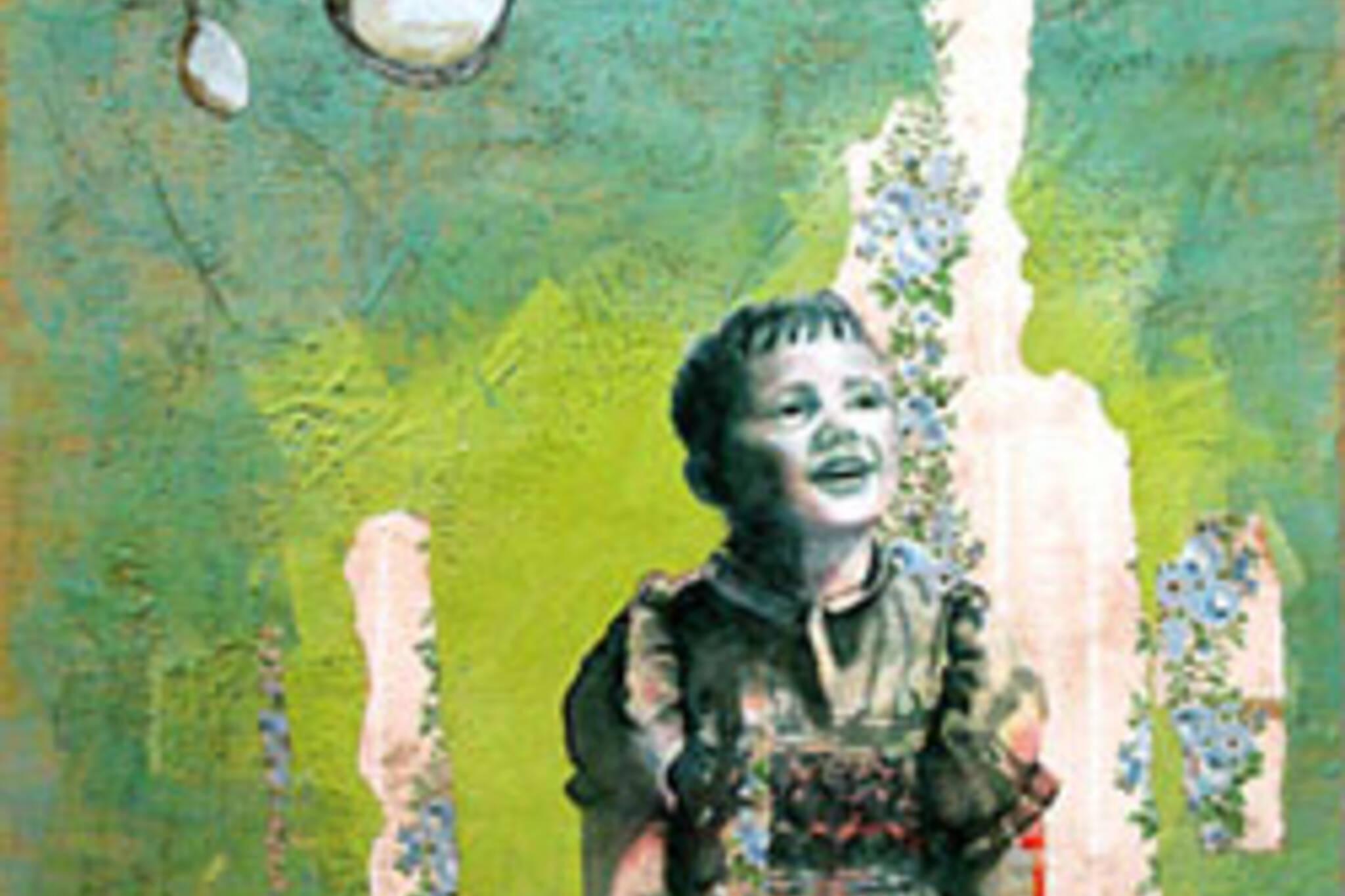 Avocado Dreams, Mixed media on wood panel, 48 x 36