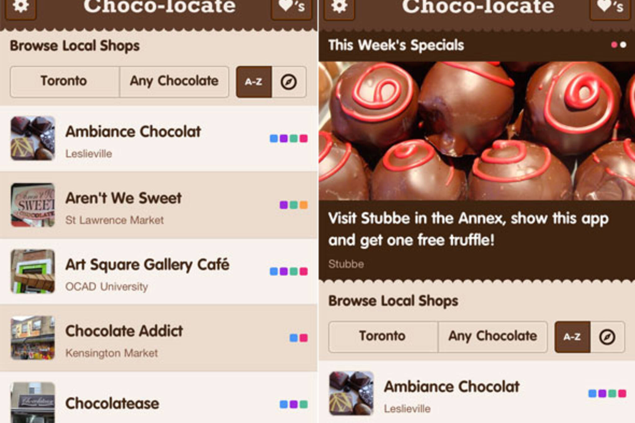 Chocolate iphone app