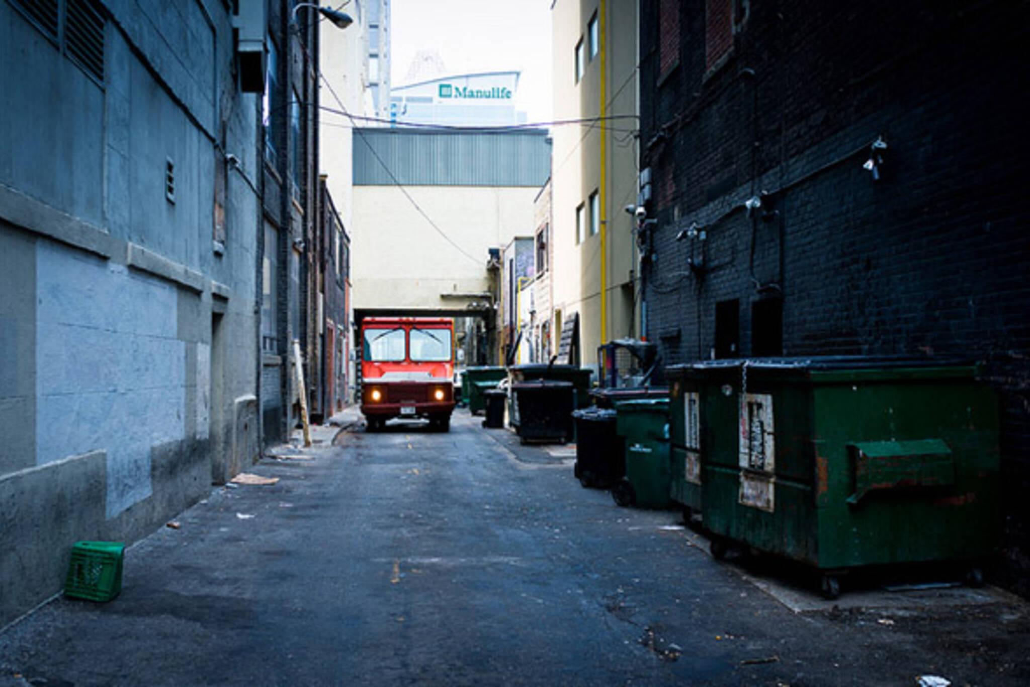 alley, truck, photo
