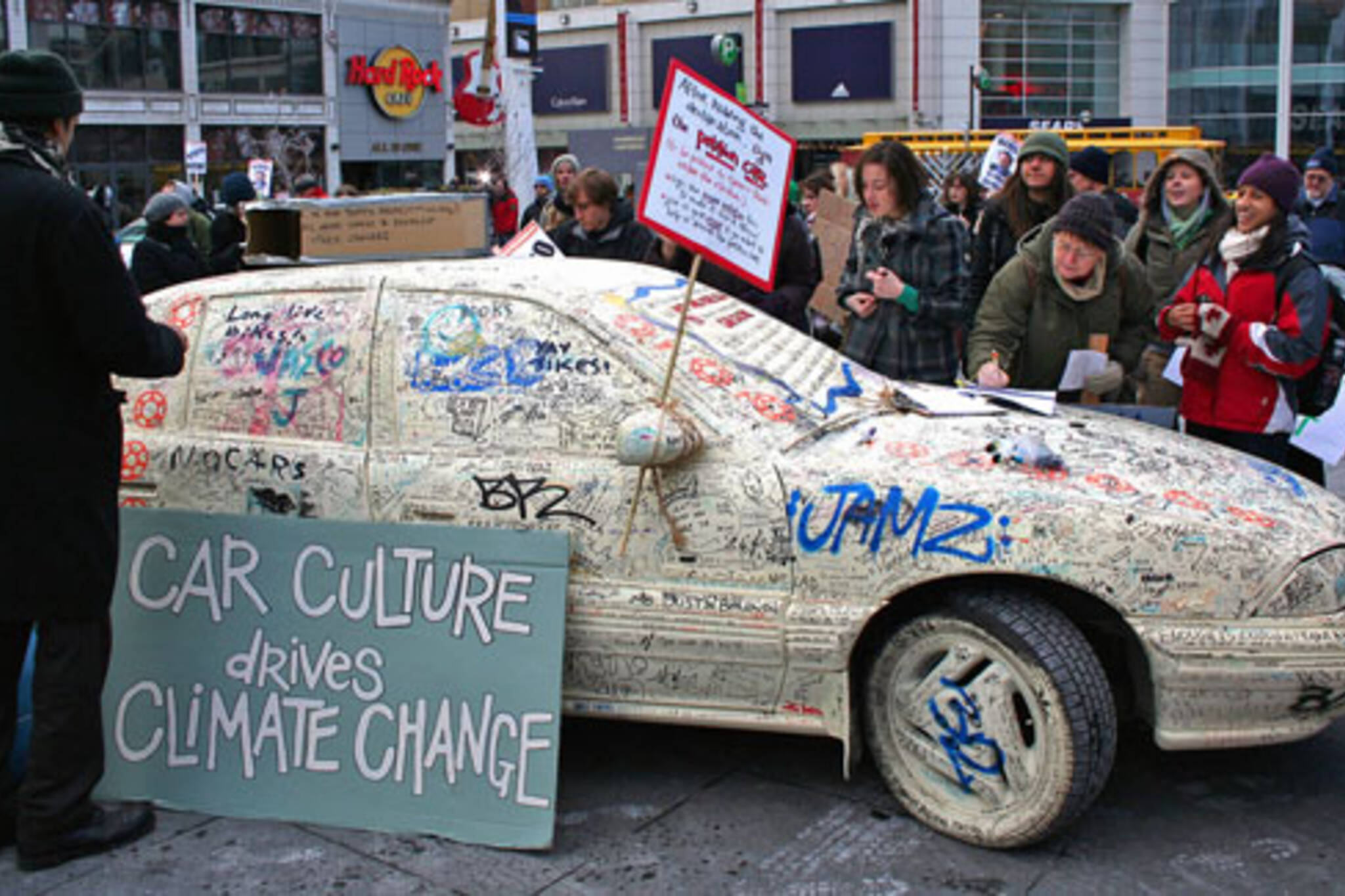 Petition Car in Yonge Dundas Square