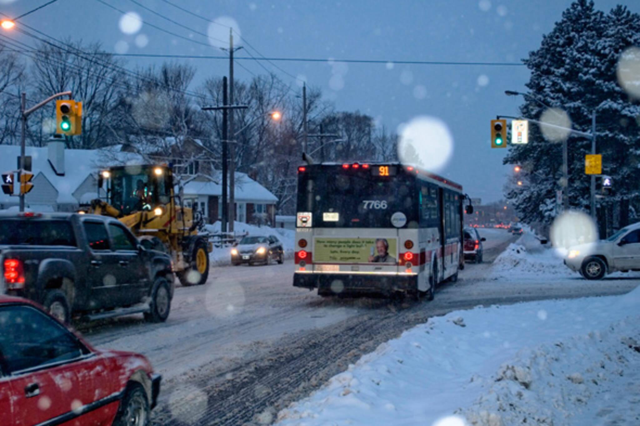 TTC bus route reductions