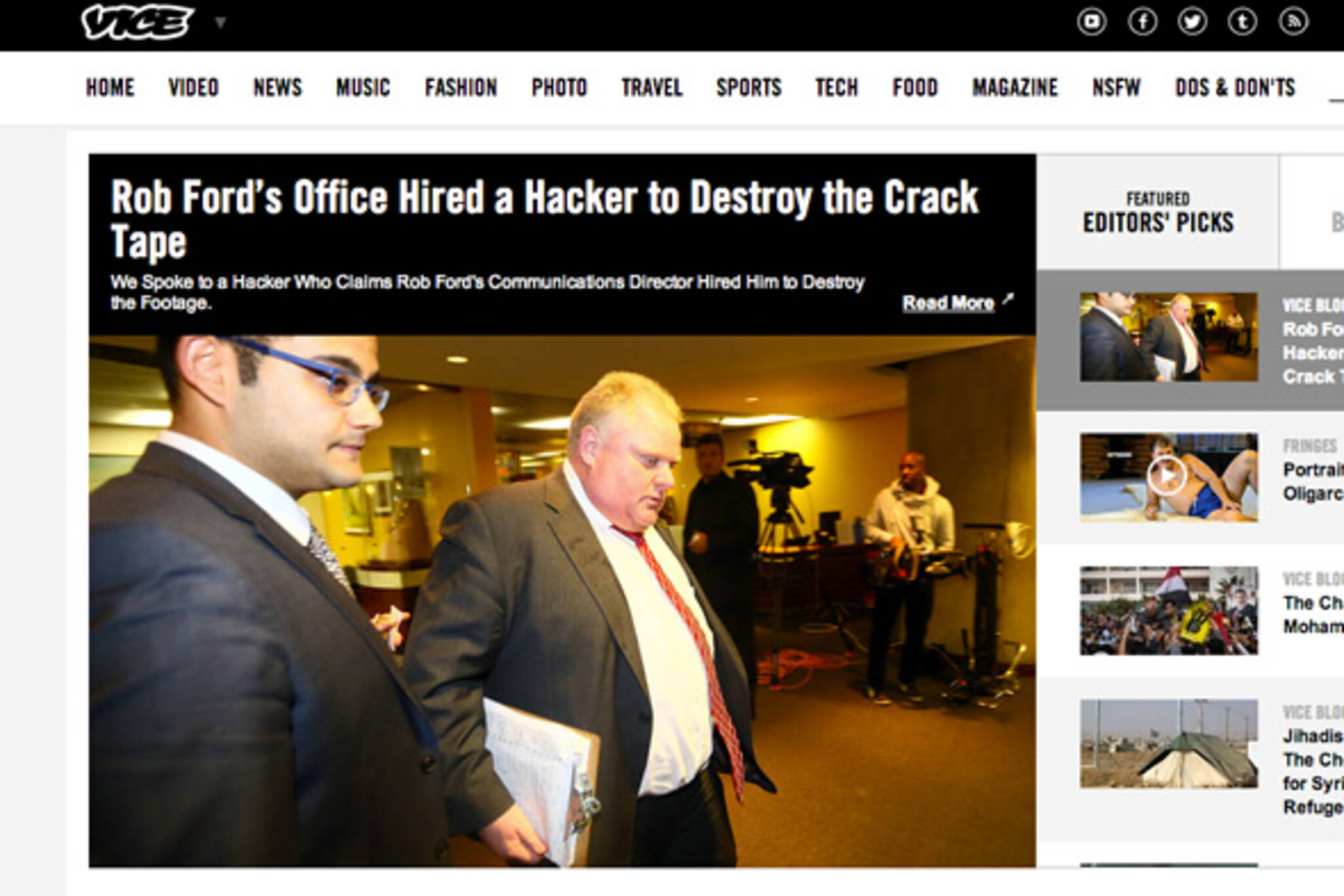 Vice Rob Ford Hacker
