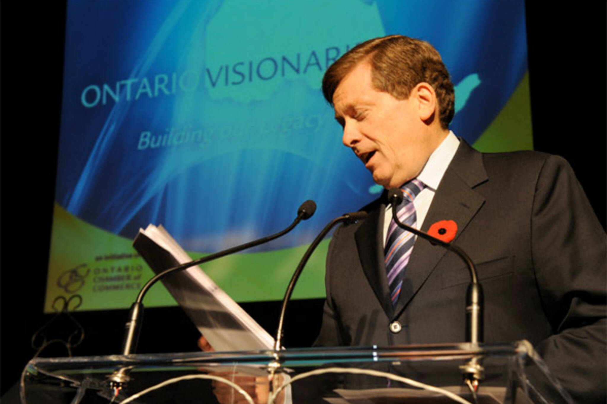 john tory not running for mayor
