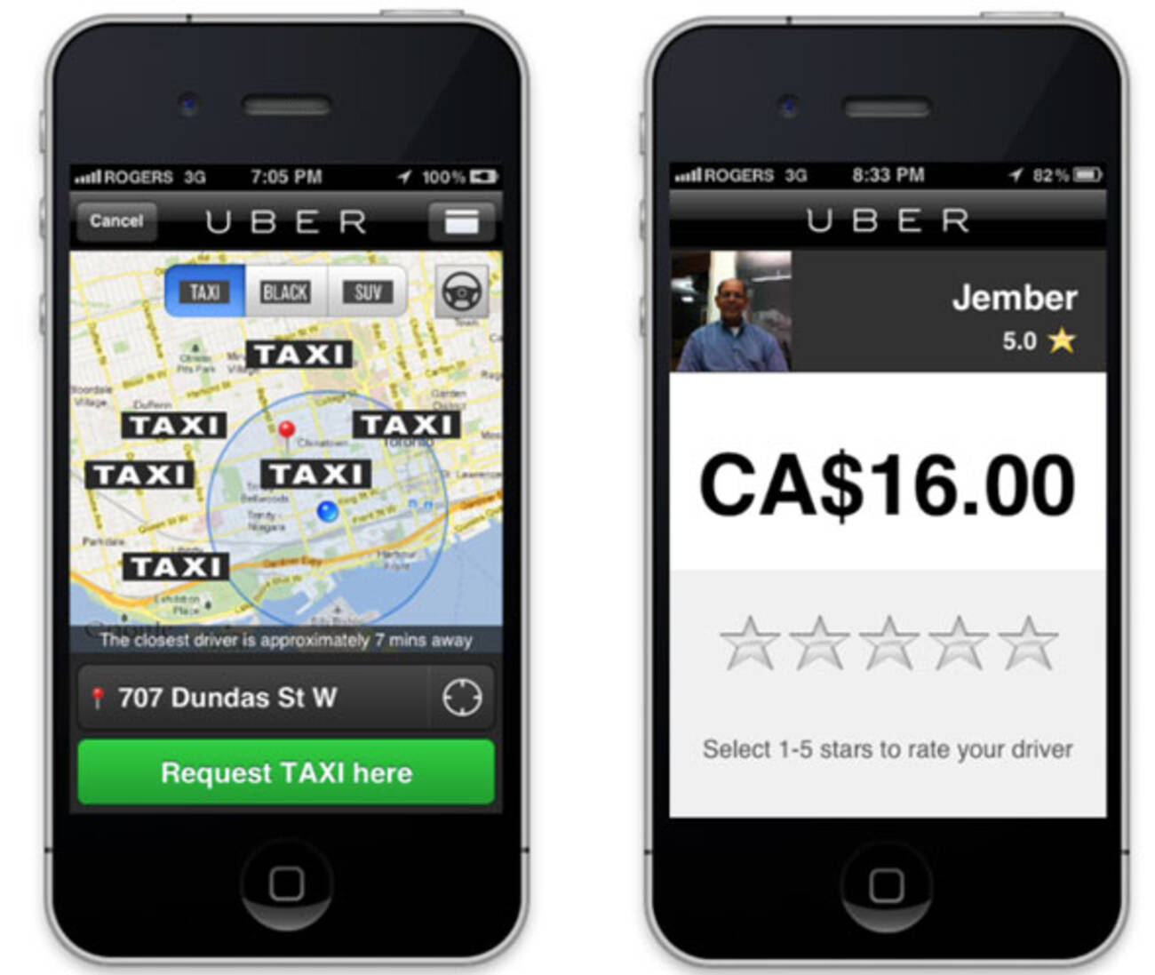 Uber Toronto Phone Number >> Uber launches taxi service in Toronto