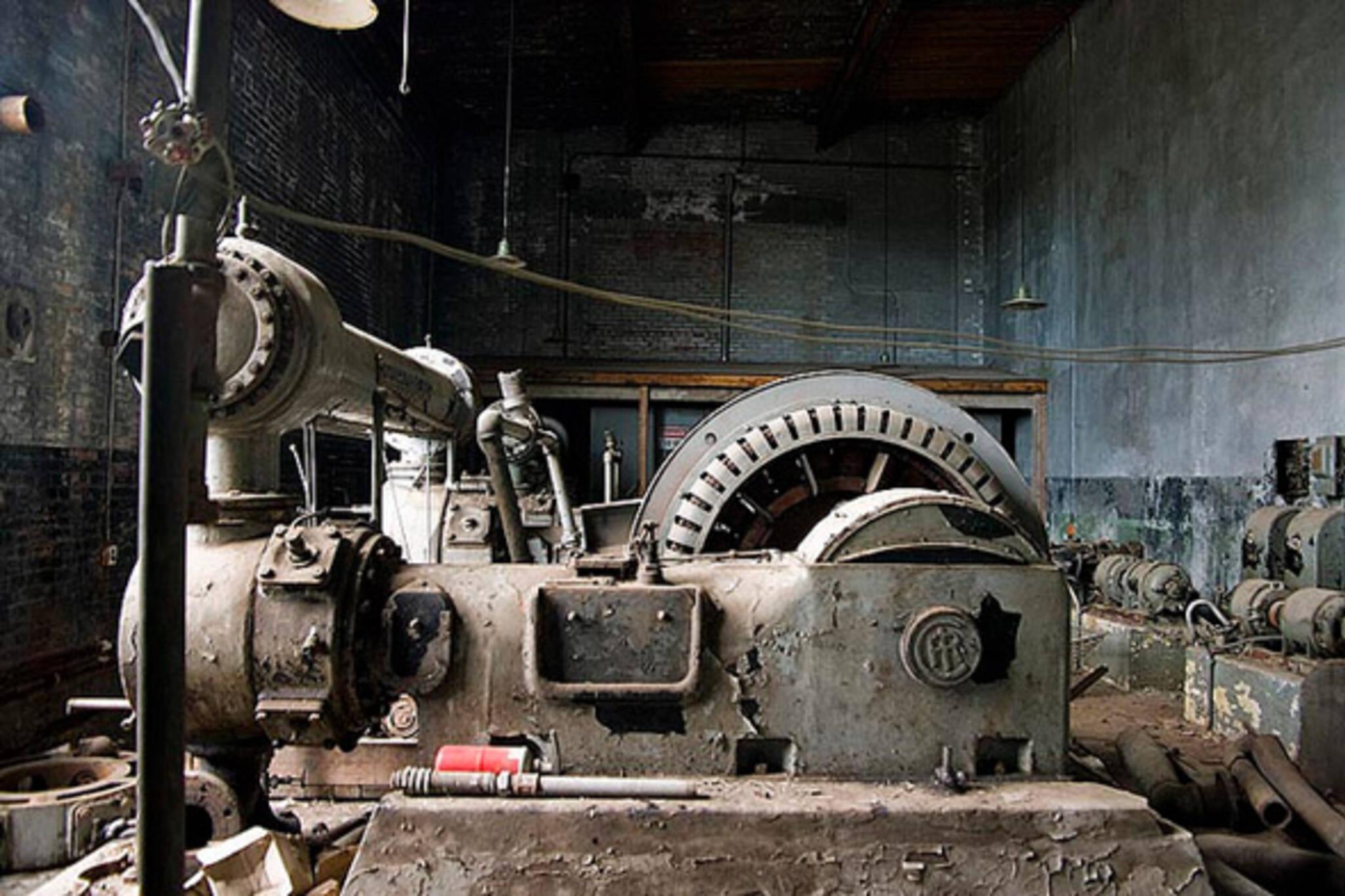 machine, room, old