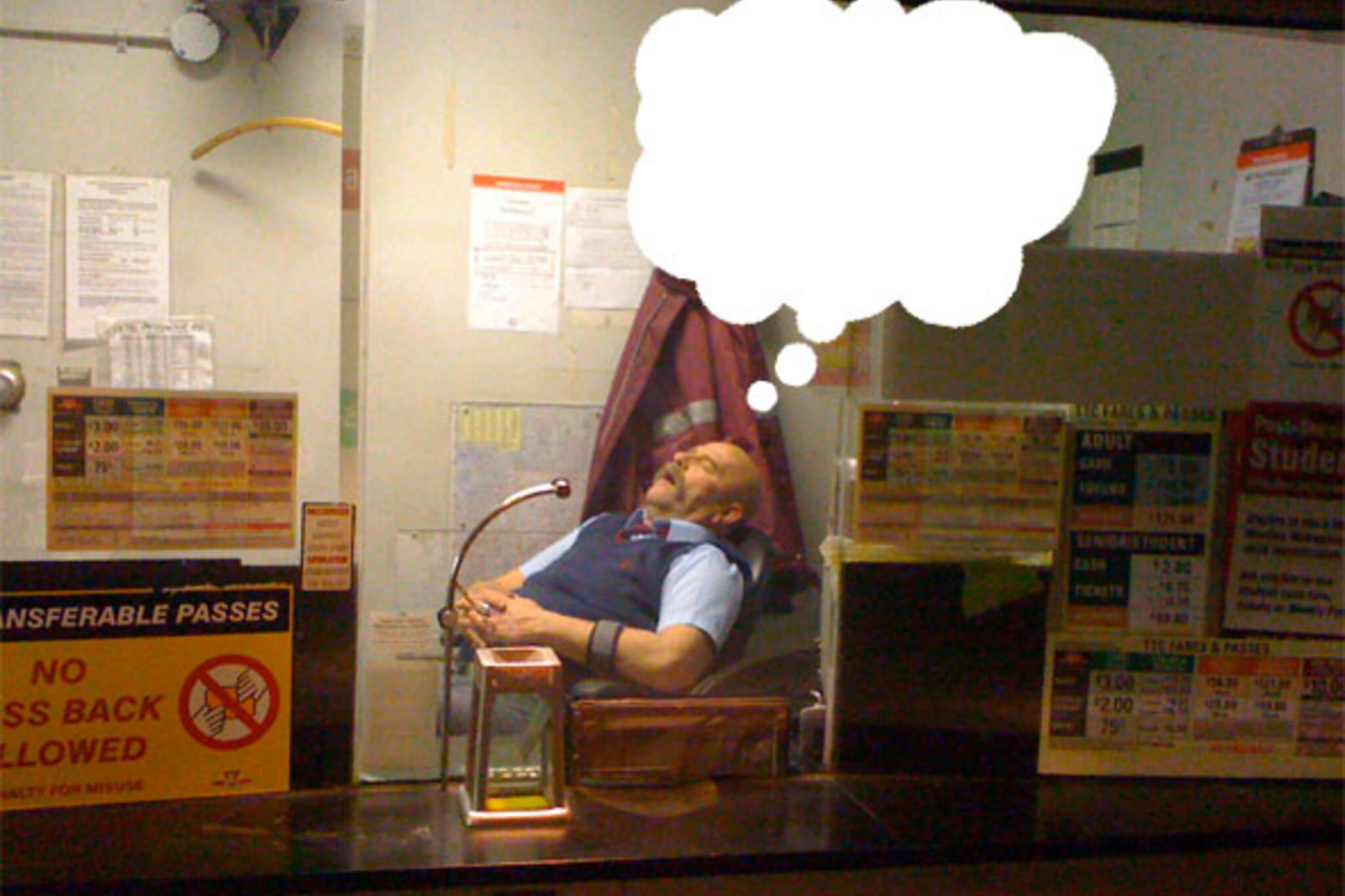 sleeping ttc employee