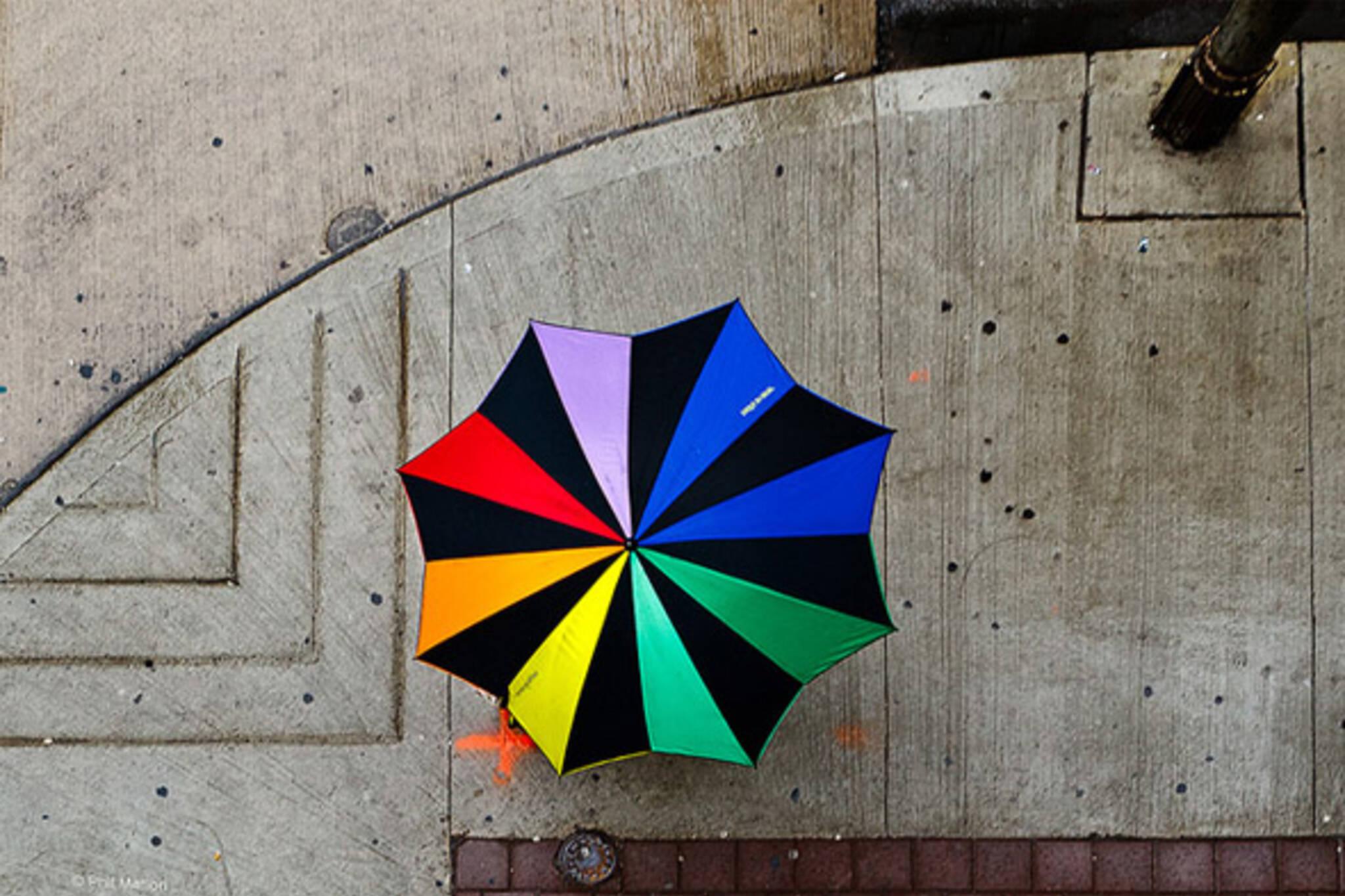 umbrella, colour, street