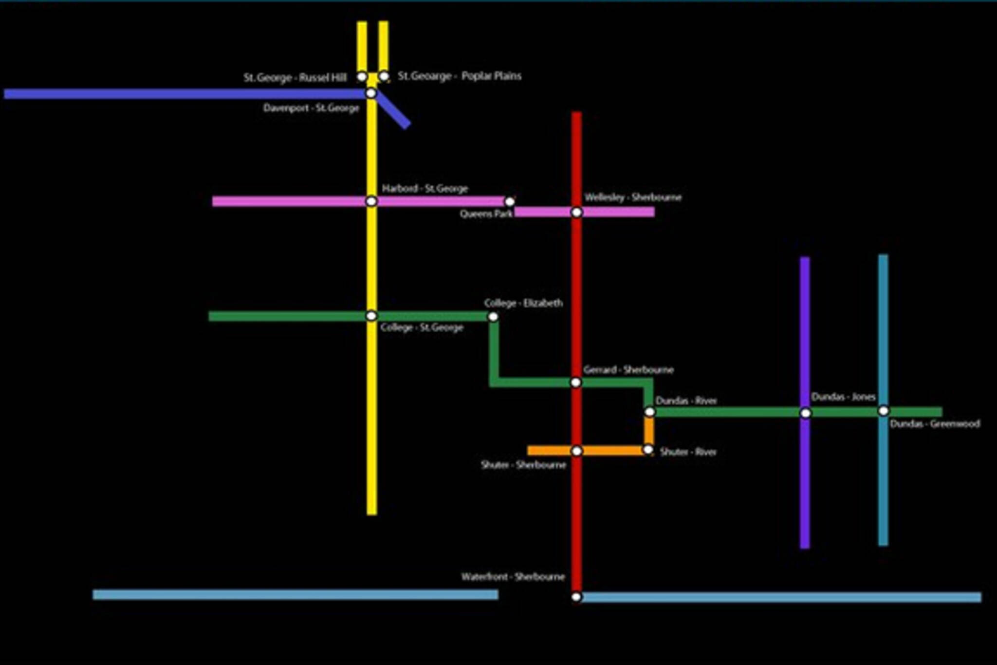 Toronto Bikeway Network Map