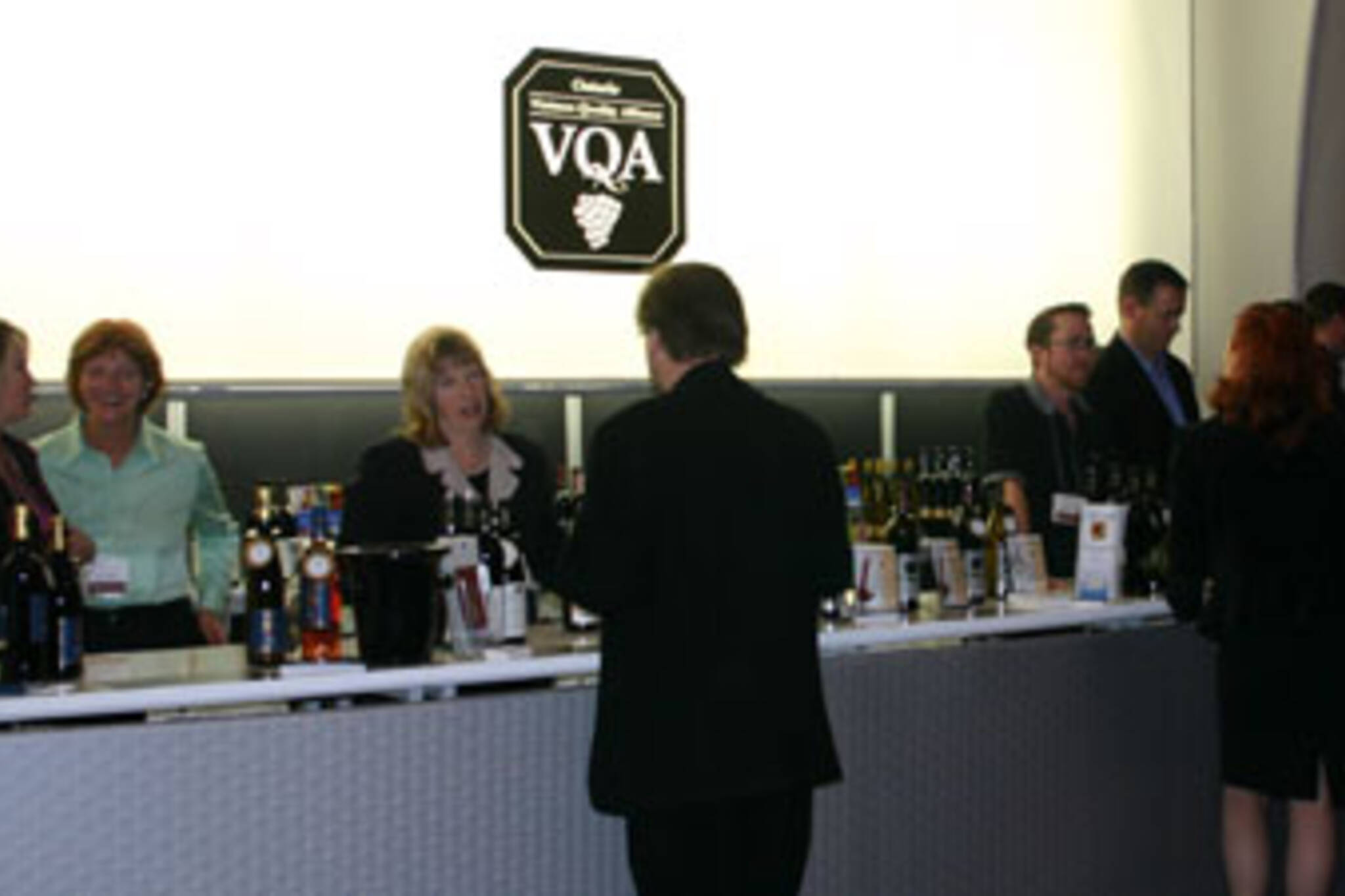 Wine lovers get a taste at the Wines of Ontario booth